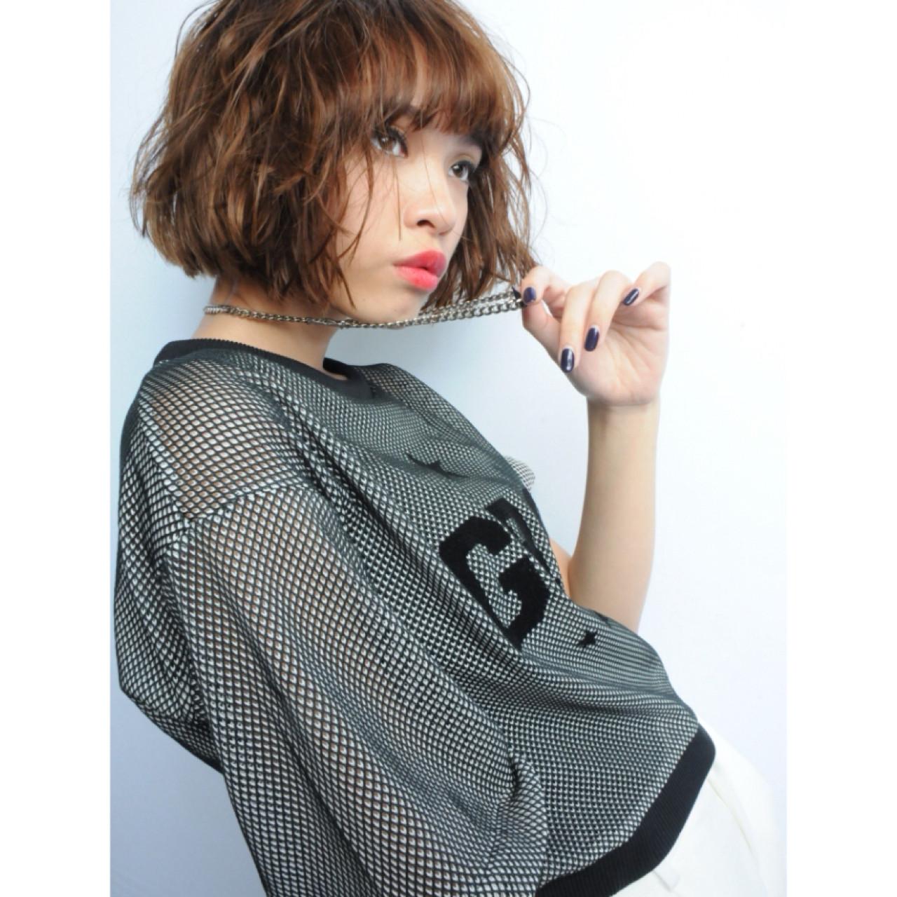 ボブ ストリート ショート 外国人風 ヘアスタイルや髪型の写真・画像 | bloc 柏 昌弘 / bloc japon