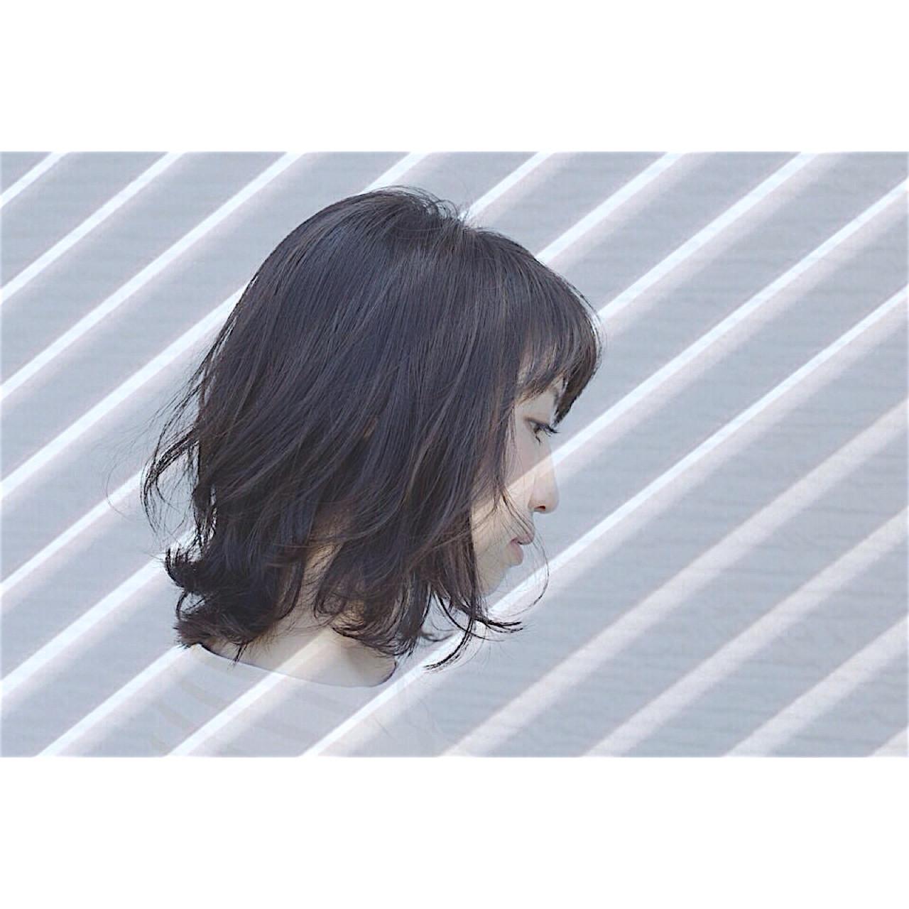 ミディアム ボブ 外ハネ 外国人風 ヘアスタイルや髪型の写真・画像 | 大西 清香 / ✴︎✴︎✴︎