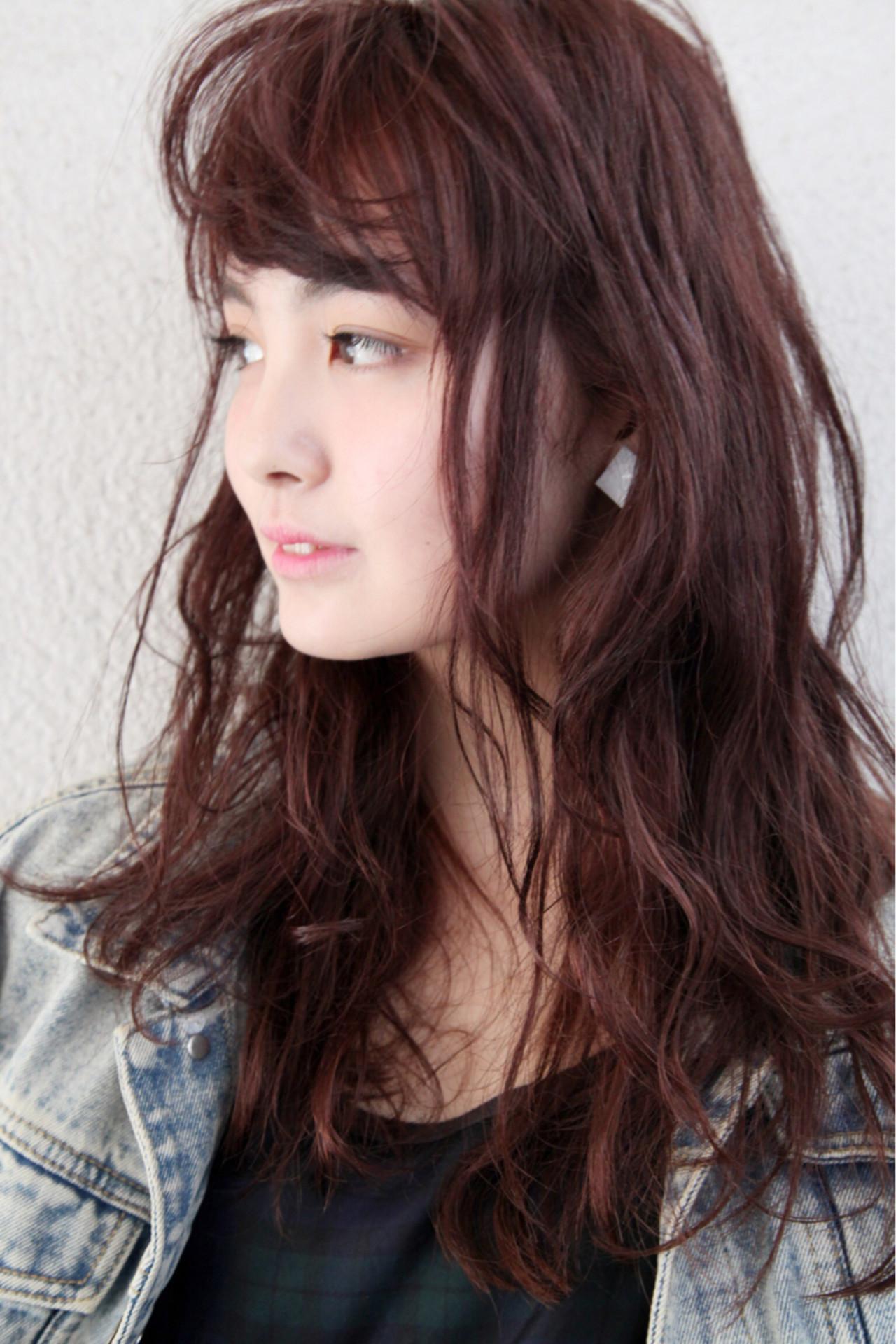 ウェーブ かわいい ロング パーマ ヘアスタイルや髪型の写真・画像 | ayamimurakami / KOCHAB