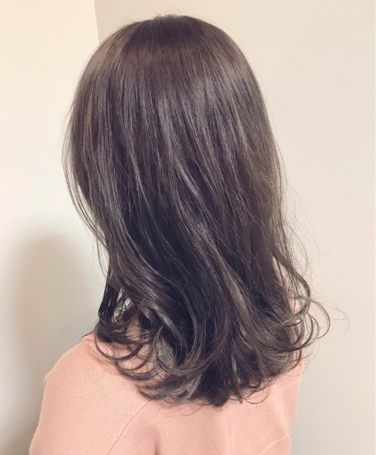 外国人風カラー セミロング 大人かわいい 冬 ヘアスタイルや髪型の写真・画像 | hide / mira by green / mira by green