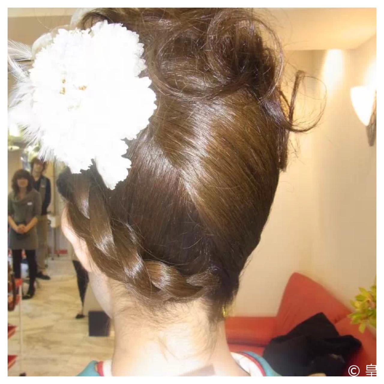夜会巻 ロング ヘアアレンジ アップスタイル ヘアスタイルや髪型の写真・画像   皇 / PLAISIR(プレジール)