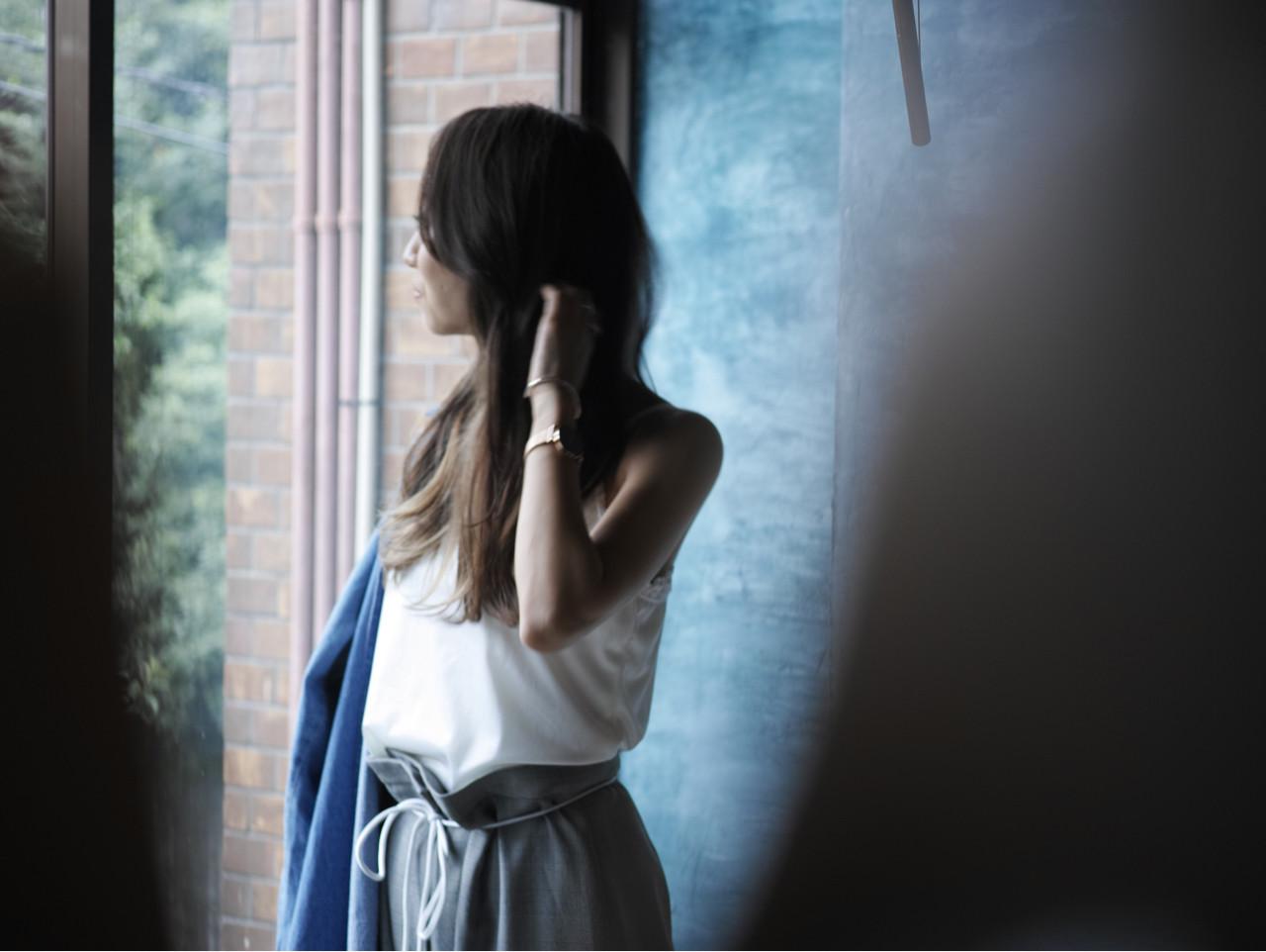 オフィス デート ロング 簡単ヘアアレンジ ヘアスタイルや髪型の写真・画像 | カラーリスト・YuuKi Sekimoto / wherever