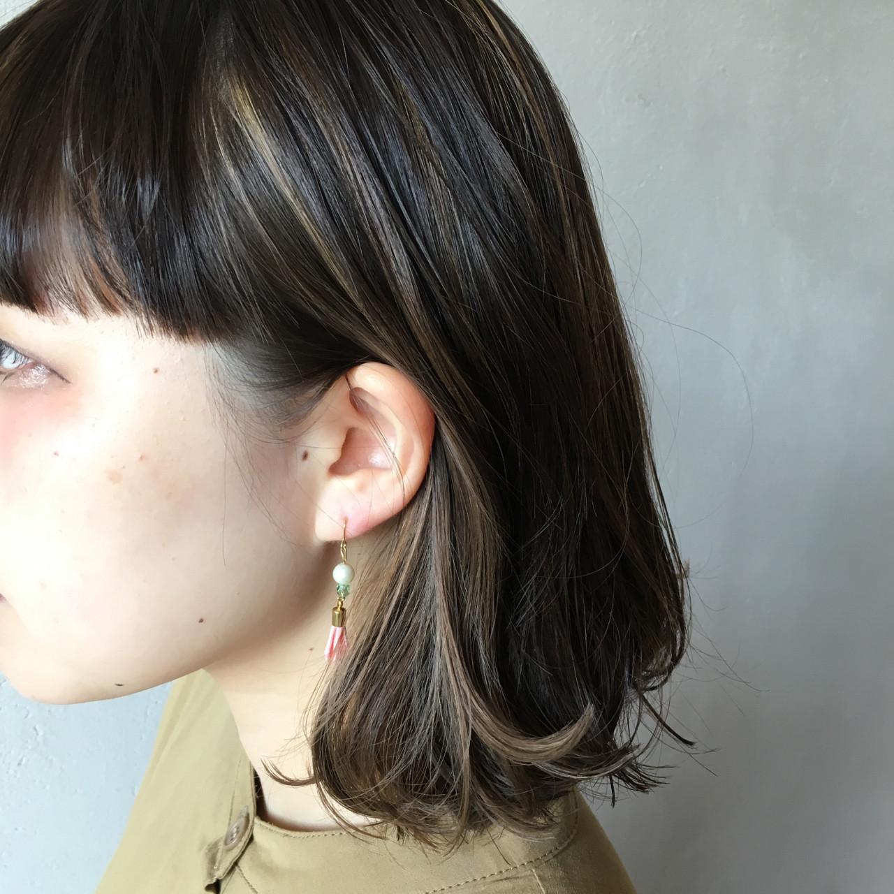 ストリート ボブ インナーカラー 3Dカラー ヘアスタイルや髪型の写真・画像 | 岡本 光太 / Acotto Labas