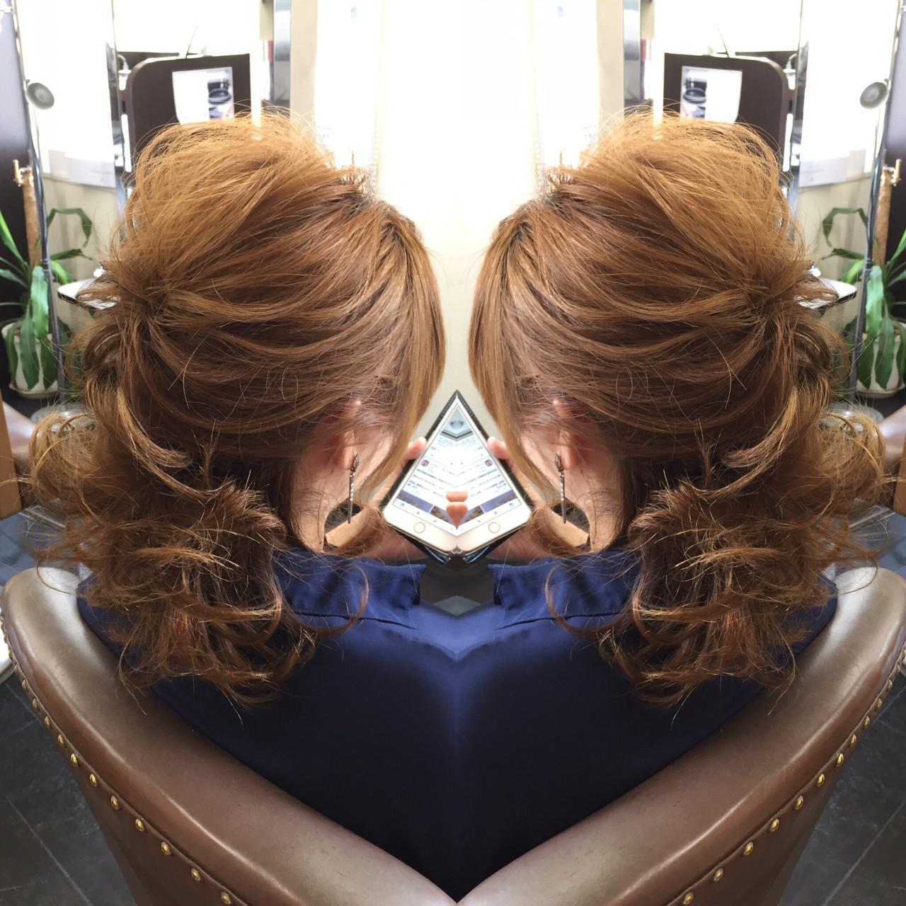 デート かわいい ヘアアレンジ ミディアムヘアスタイルや髪型の写真・画像