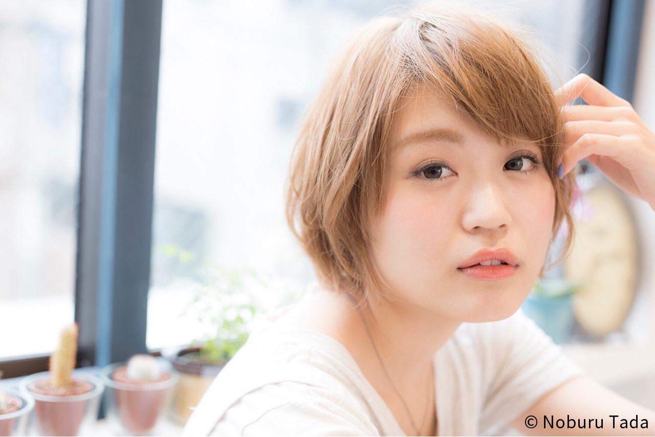大人かわいい ガーリー 似合わせ ショート ヘアスタイルや髪型の写真・画像 | Noburu Tada / melt