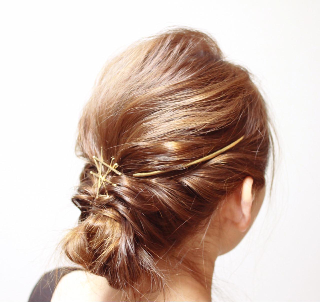 セミロング 外国人風 大人かわいい ロープ編みヘアスタイルや髪型の写真・画像