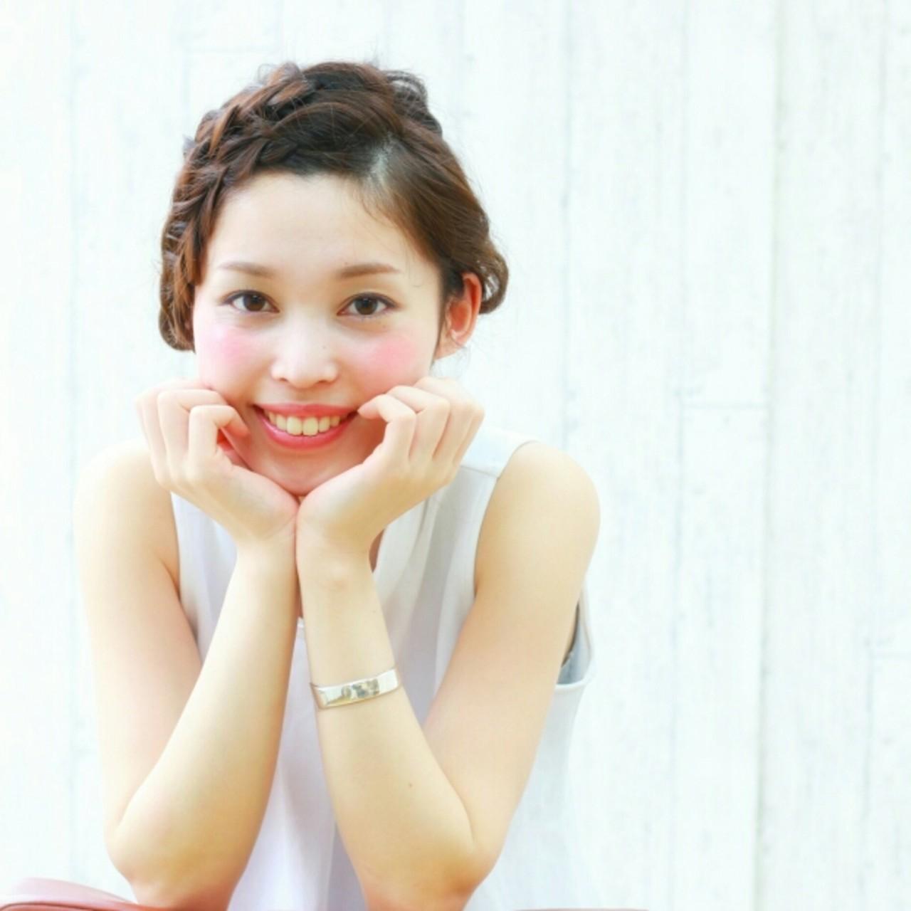 簡単ヘアアレンジ 夏 ヘアアレンジ ショート ヘアスタイルや髪型の写真・画像   前田えみ/BLOOM /  BLOOM(ブルーム)