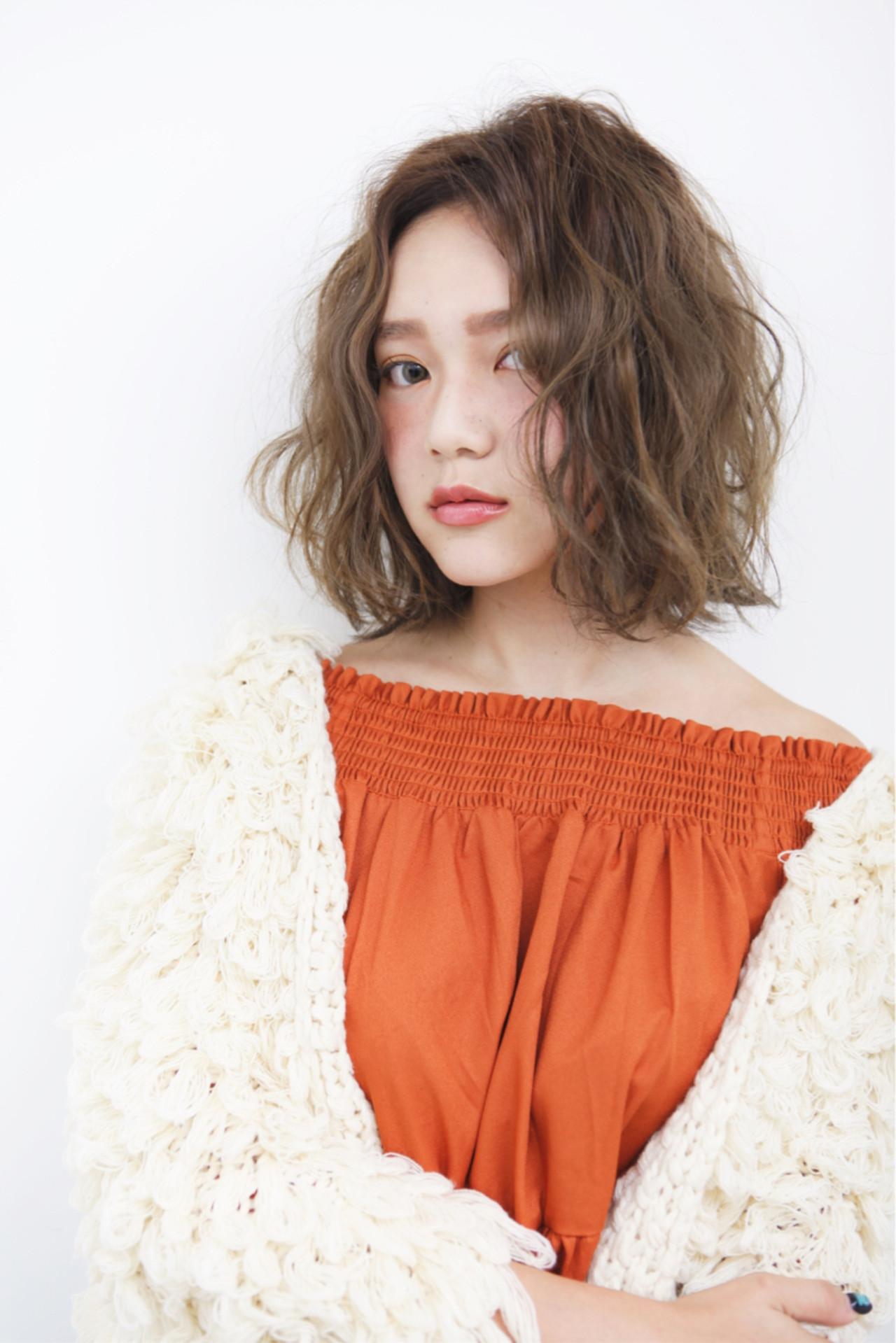 ゆるふわ ミディアム 外国人風 ストリート ヘアスタイルや髪型の写真・画像 | 宮崎 裕己【vanify JYO】 / vanify