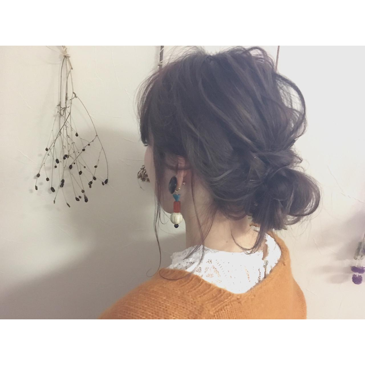 デート 大人女子 ショート 簡単ヘアアレンジヘアスタイルや髪型の写真・画像