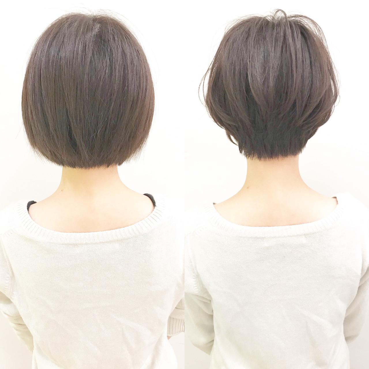 ショート パーマ 黒髪 アウトドアヘアスタイルや髪型の写真・画像