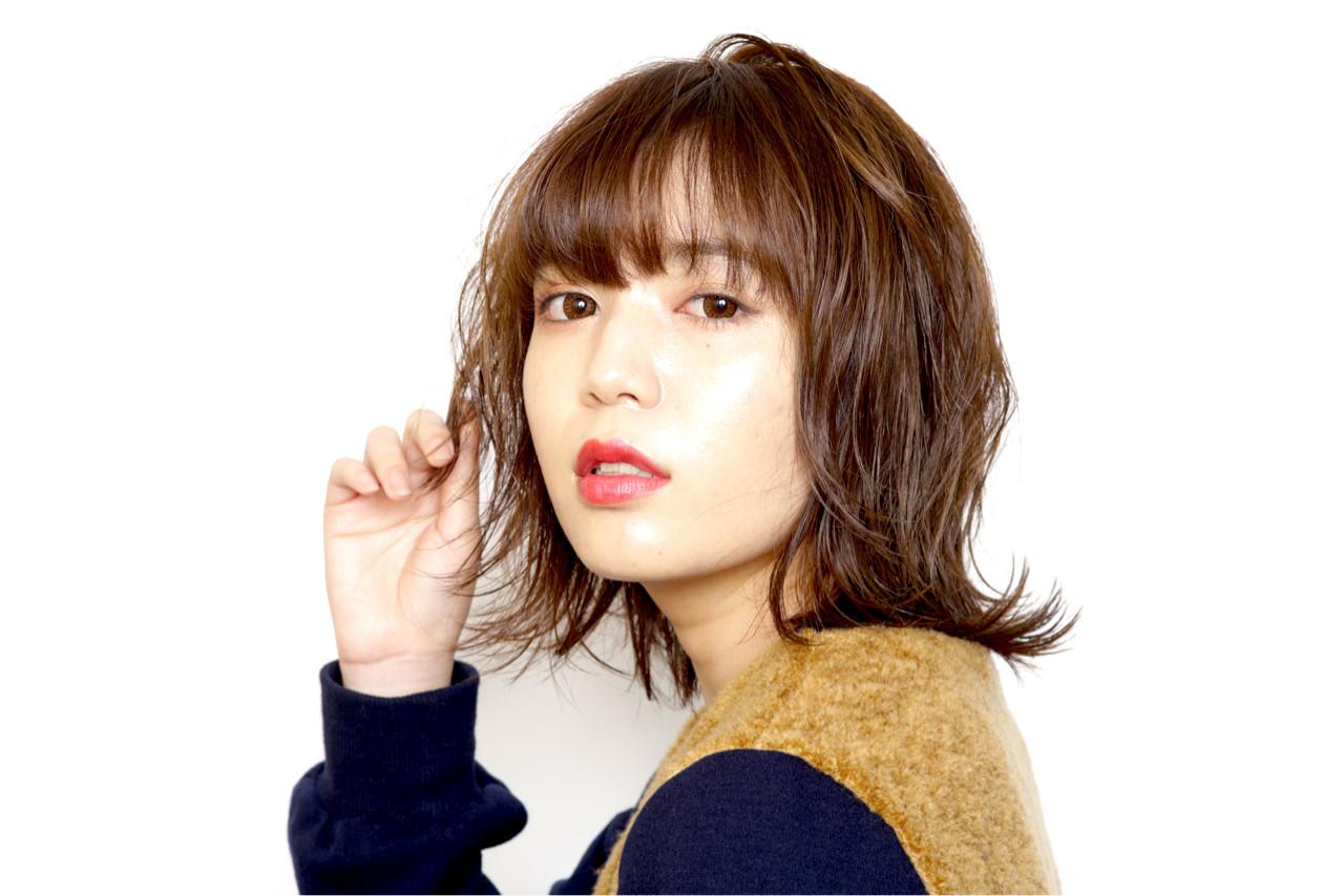 外国人風 外国人風カラー ナチュラル 丸顔 ヘアスタイルや髪型の写真・画像 | YOSHIO NAKAMURA / 026