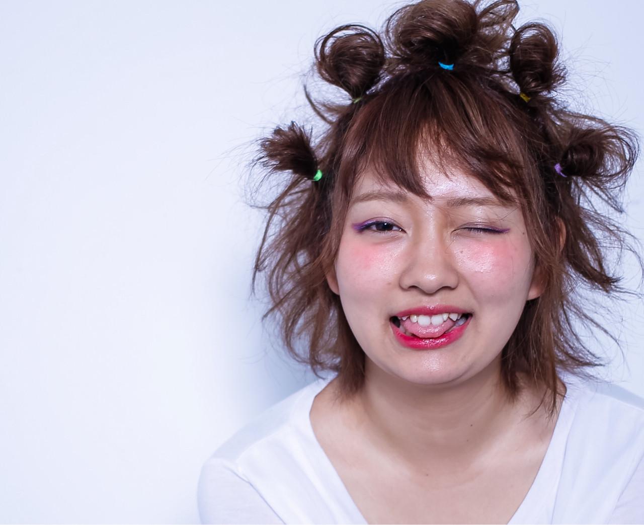 ショート ヘアアレンジ アッシュ 簡単ヘアアレンジヘアスタイルや髪型の写真・画像