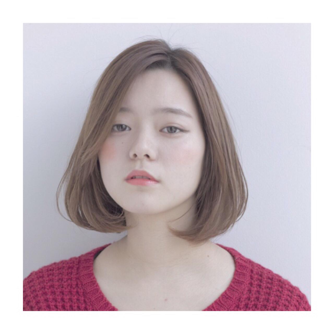 【丸顔さんに似合う髪型】ひし形シルエットの小顔効果でより可愛く♡ 世奈