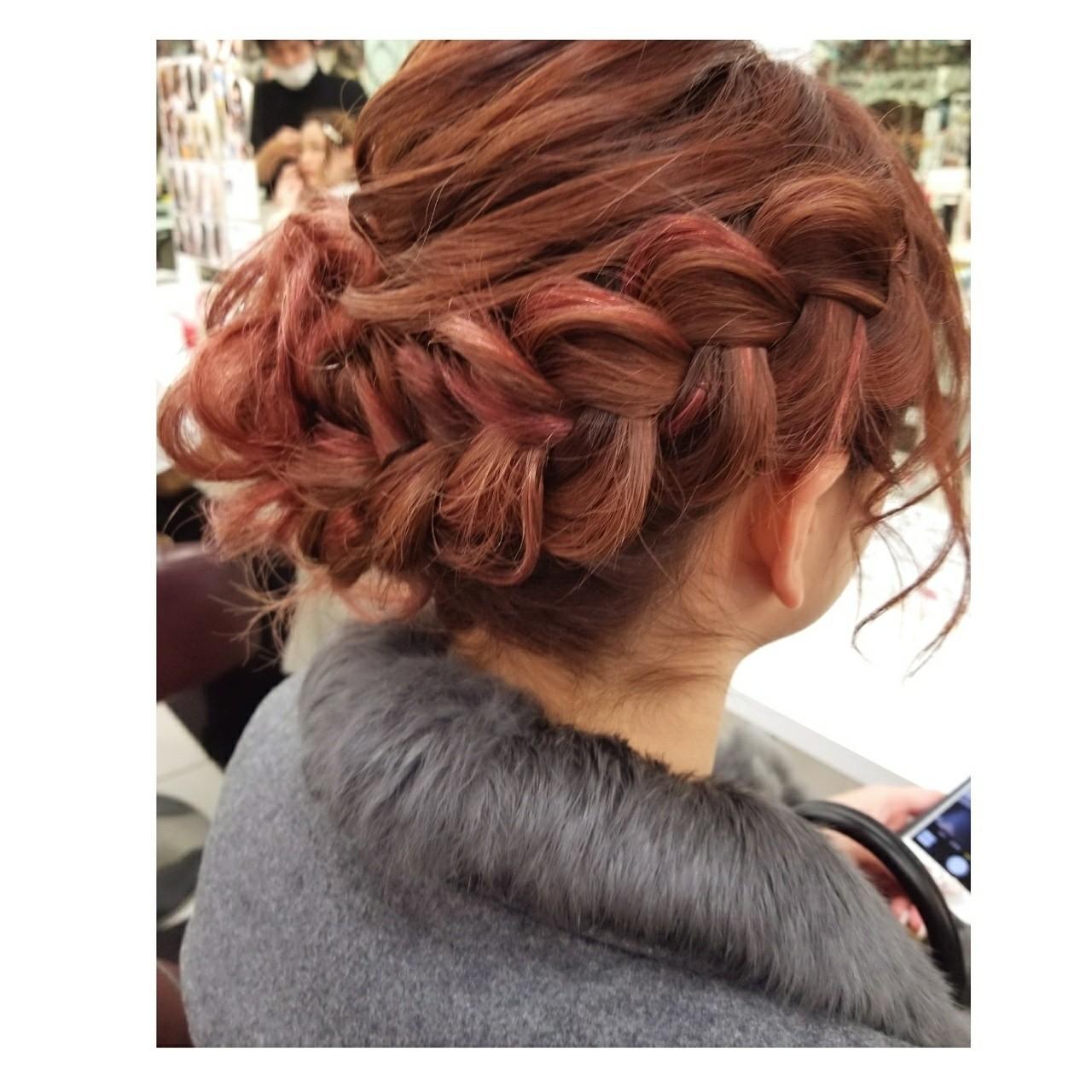 成人式 デート セミロング 謝恩会ヘアスタイルや髪型の写真・画像