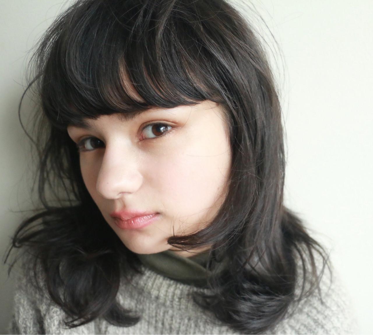 前髪重めスタイルでデカ目&小顔をつくる方法まとめ 高橋 忍