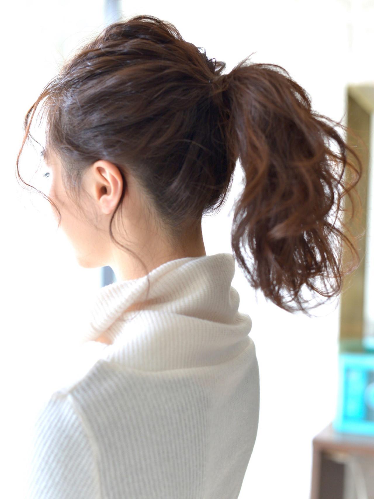 ポニーテール・前髪