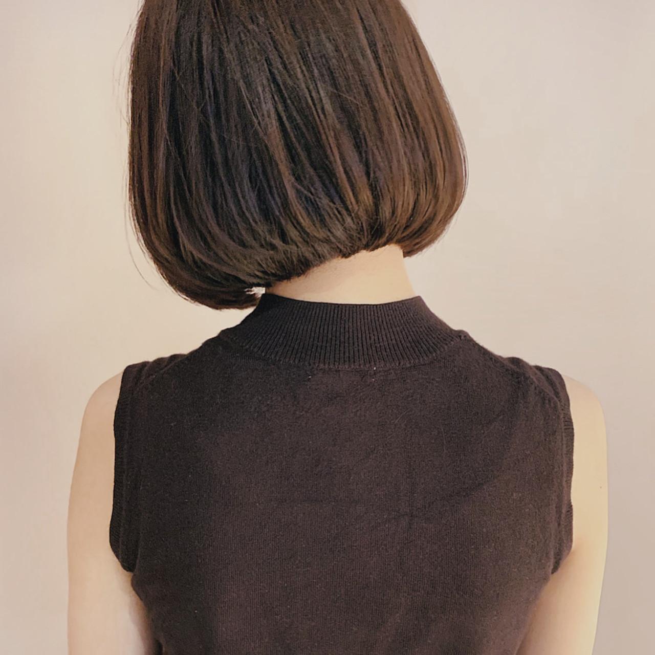 大人かわいい ナチュラル ボブ ミニボブヘアスタイルや髪型の写真・画像