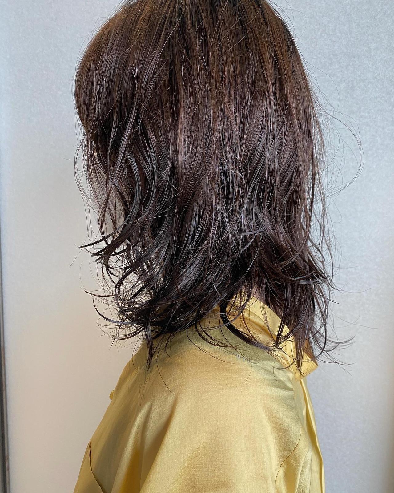 ゆるふわパーマ ナチュラル デジタルパーマ パーマ ヘアスタイルや髪型の写真・画像