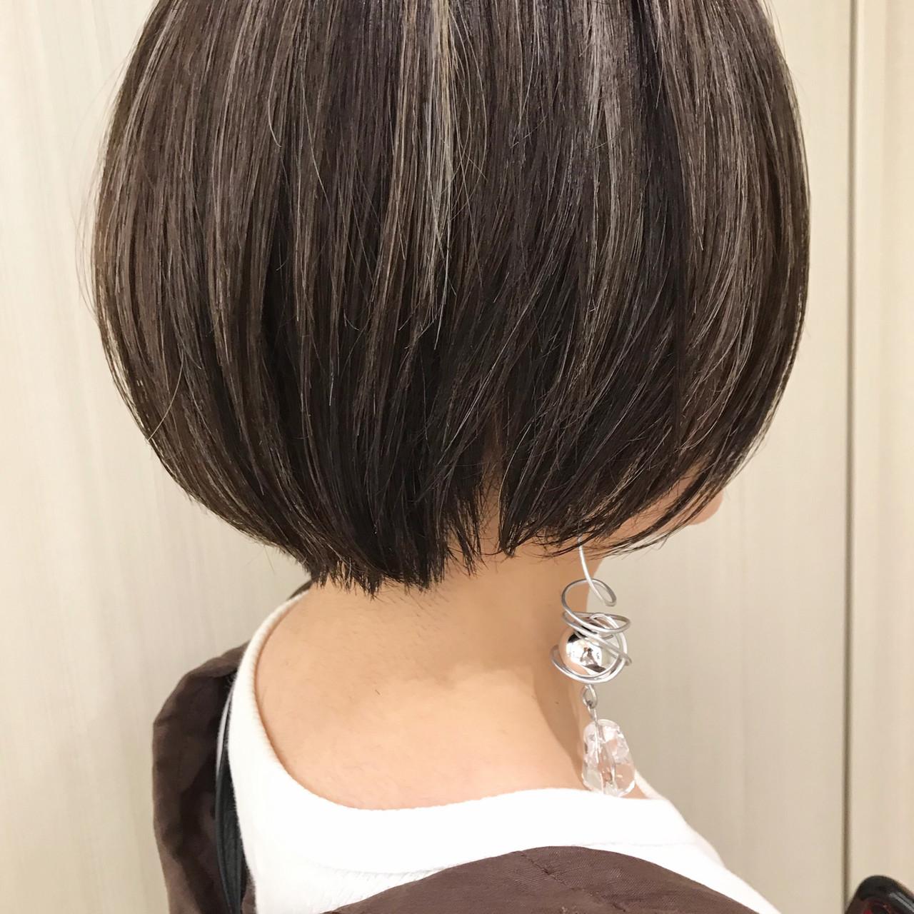 デート まとまるボブ ナチュラル 簡単スタイリング ヘアスタイルや髪型の写真・画像 | 宮崎 基文 / 『kakimoto arms  LaLa terrace武蔵小杉店』