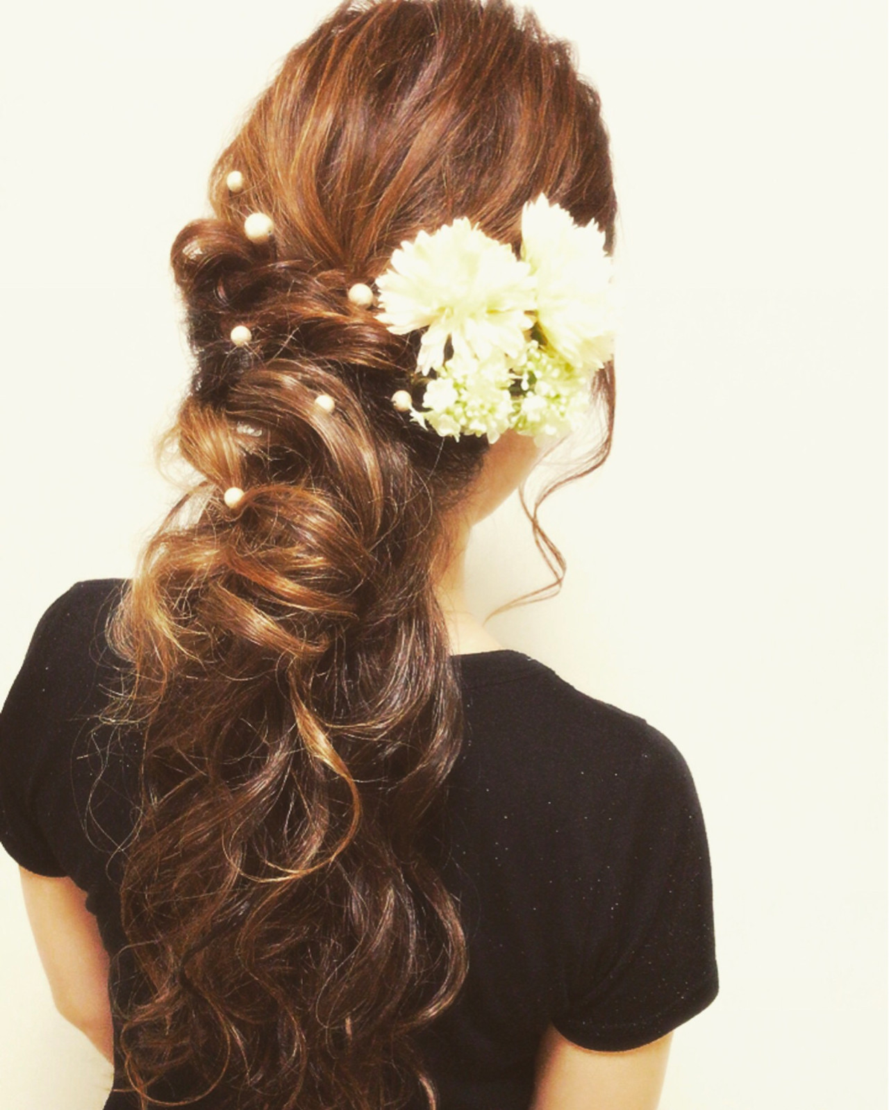 結婚式 大人かわいい ヘアアレンジ フェミニン ヘアスタイルや髪型の写真・画像 | Moriyama Mami / 福岡天神ヘアセット・着付け専門店【Three-keys】