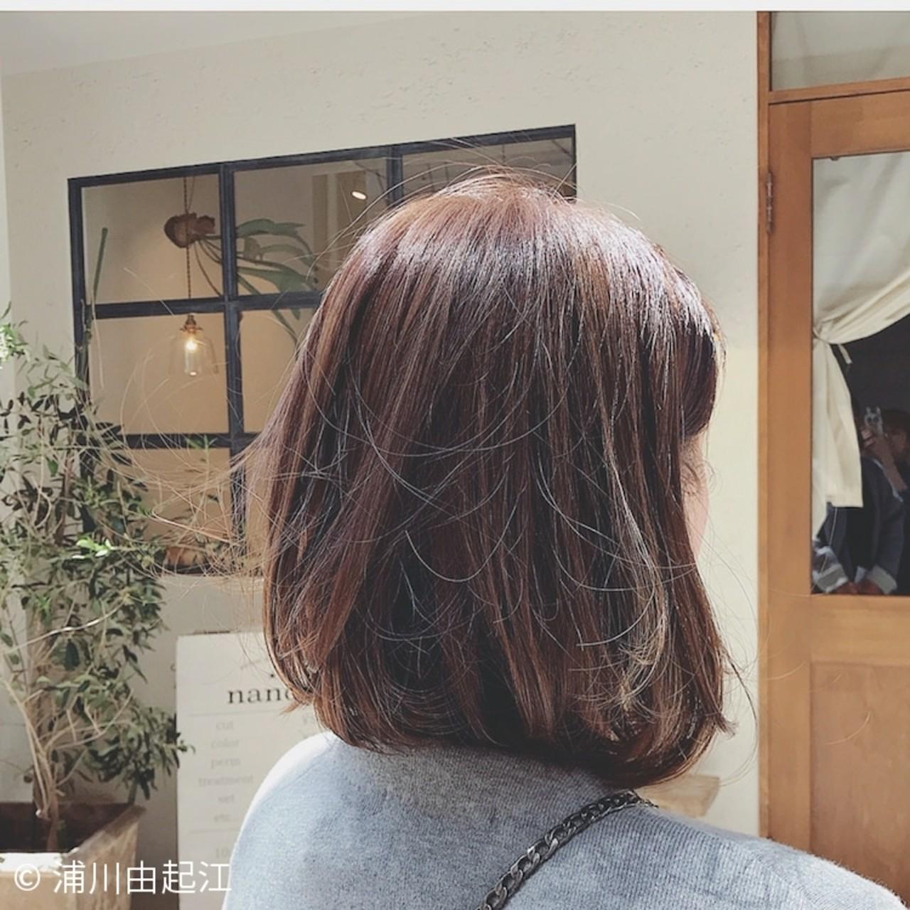 ハイライト ナチュラル デート 大人かわいい ヘアスタイルや髪型の写真・画像 | 浦川由起江 / nanon