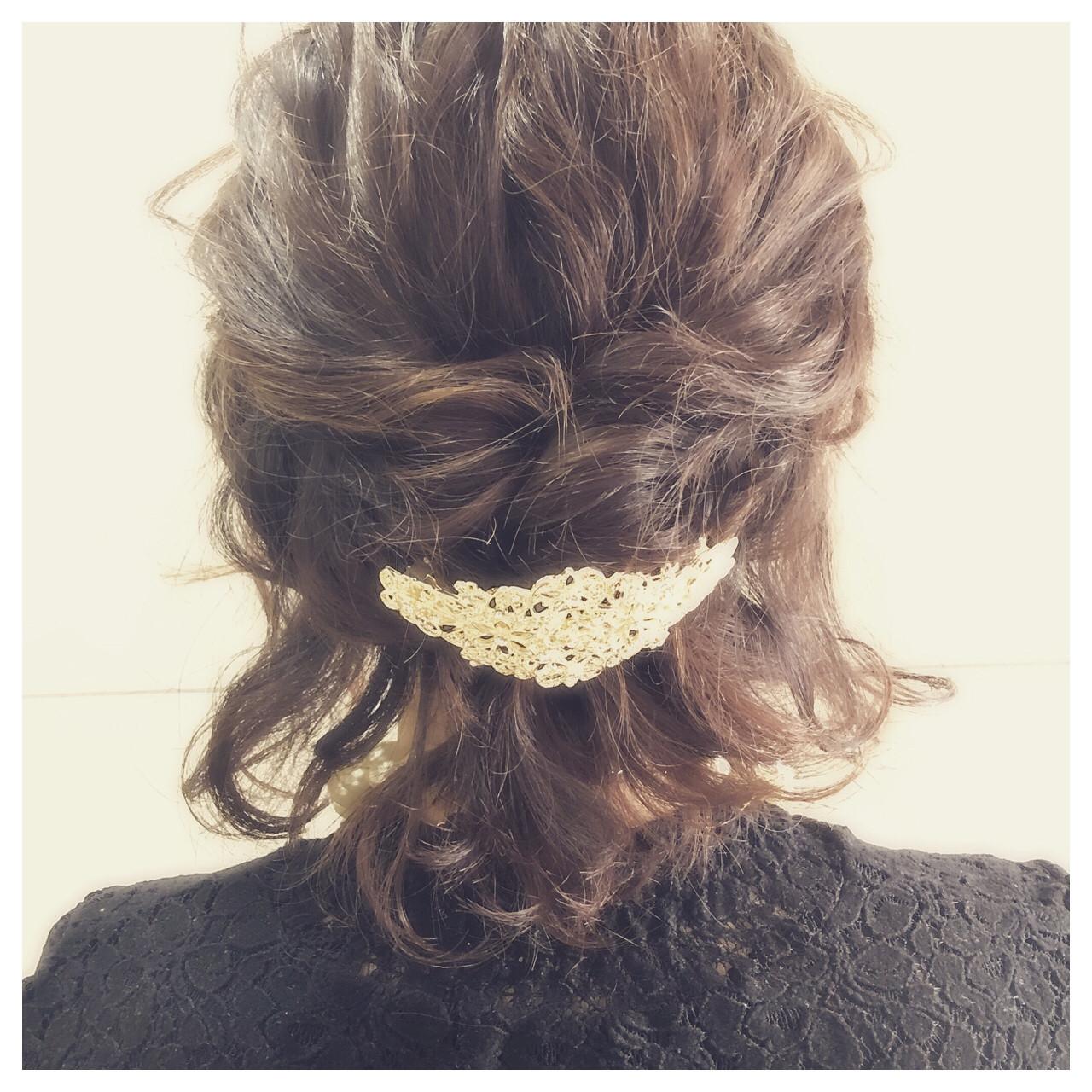 ボブ 結婚式 上品 エレガント ヘアスタイルや髪型の写真・画像 | 中田慎吾 / salon de sadam