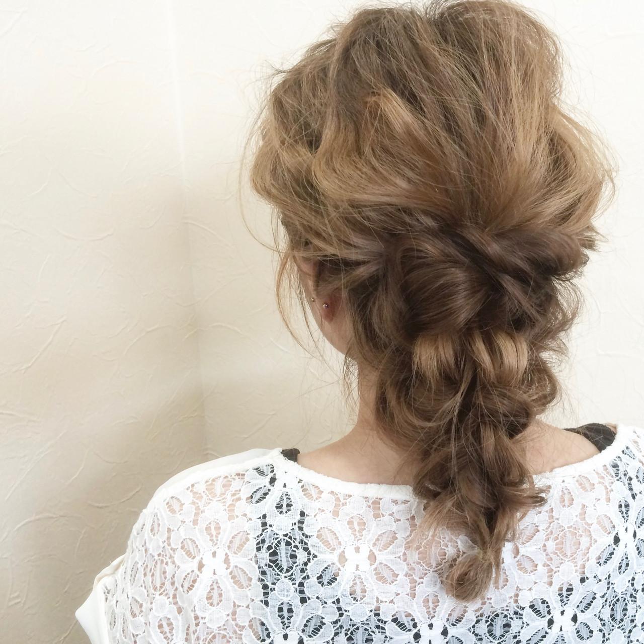 ガーリー ロング ヘアアレンジ ふわふわヘアアレンジ ヘアスタイルや髪型の写真・画像