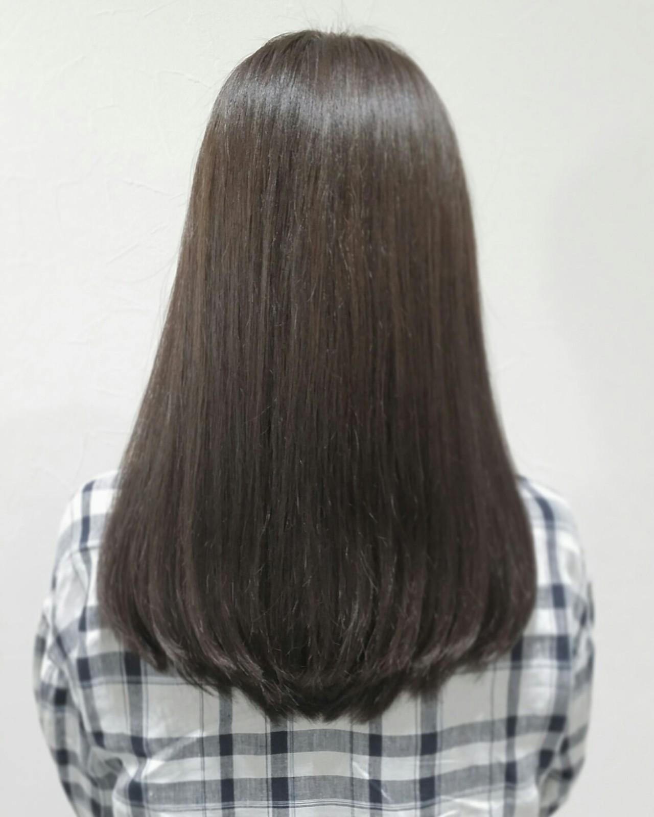 イルミナカラー 外国人風 セミロング ブルージュヘアスタイルや髪型の写真・画像