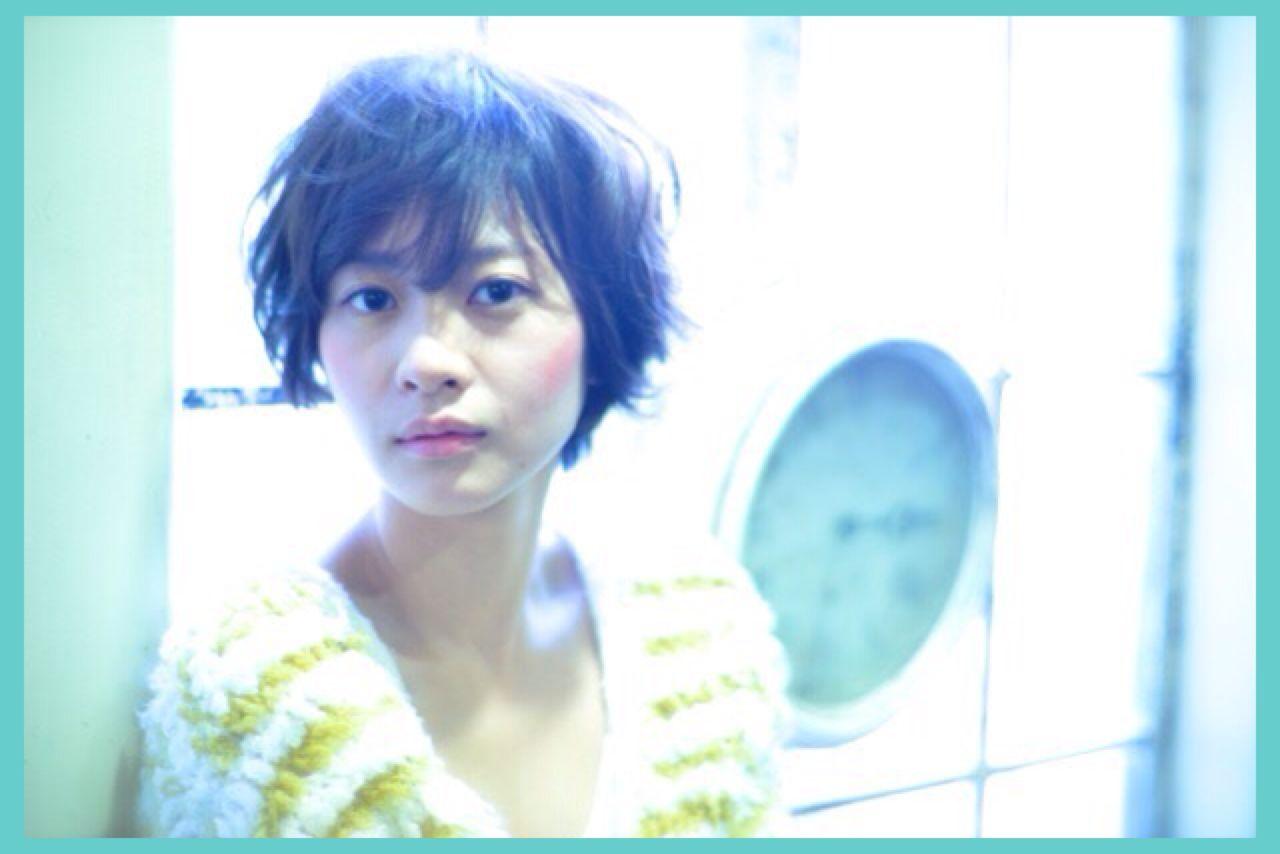ショート フェミニン ゆるふわ 暗髪 ヘアスタイルや髪型の写真・画像 | 佐藤 可奈子 /