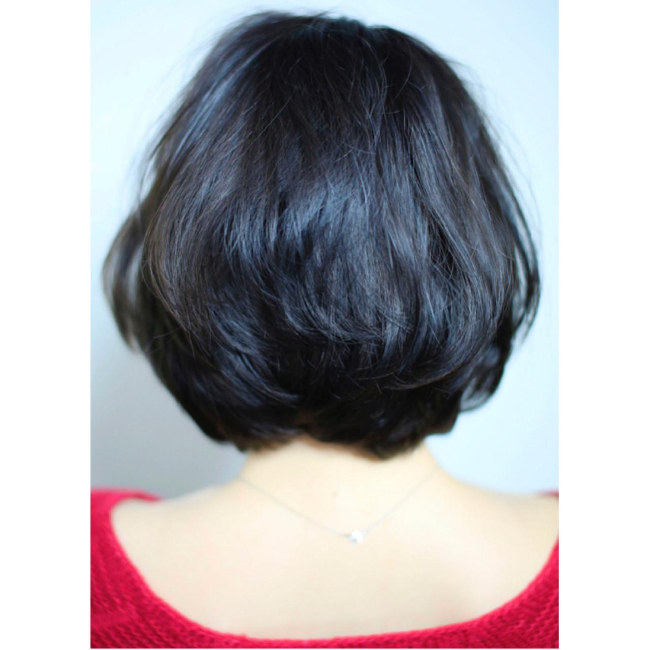 ショート 黒髪 ナチュラル ゆるふわ ヘアスタイルや髪型の写真・画像 | 渡辺拓吏【NUM】 / hair salon NUM