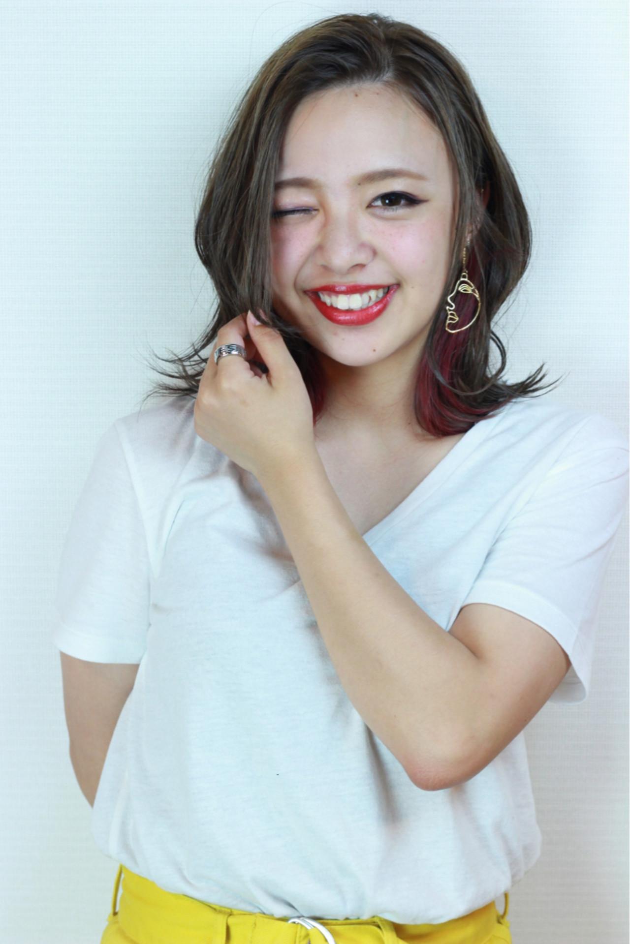 愛され インナーカラー アンニュイ エレガント ヘアスタイルや髪型の写真・画像 | 松田 和幸 / tuuli