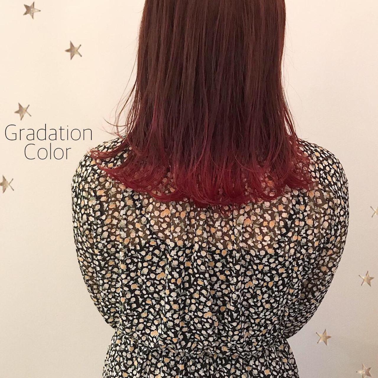 ミディアム ストリート ワンカール グラデーション ヘアスタイルや髪型の写真・画像 | 市川千夏*札幌 / salon AKIRA