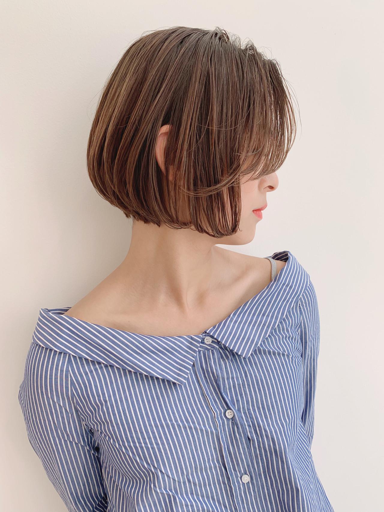 ボブ 大人可愛い ヘアアレンジ 大人かわいい ヘアスタイルや髪型の写真・画像   石田浩之 / lano by hair