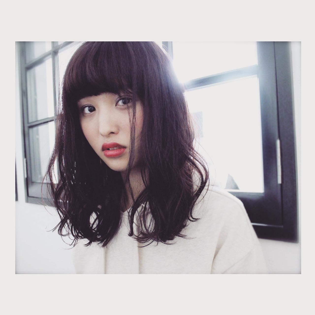 ゆるふわ 外国人風 セミロング 大人かわいい ヘアスタイルや髪型の写真・画像 | 上田智久 / ooit 福岡 天神 / ooit