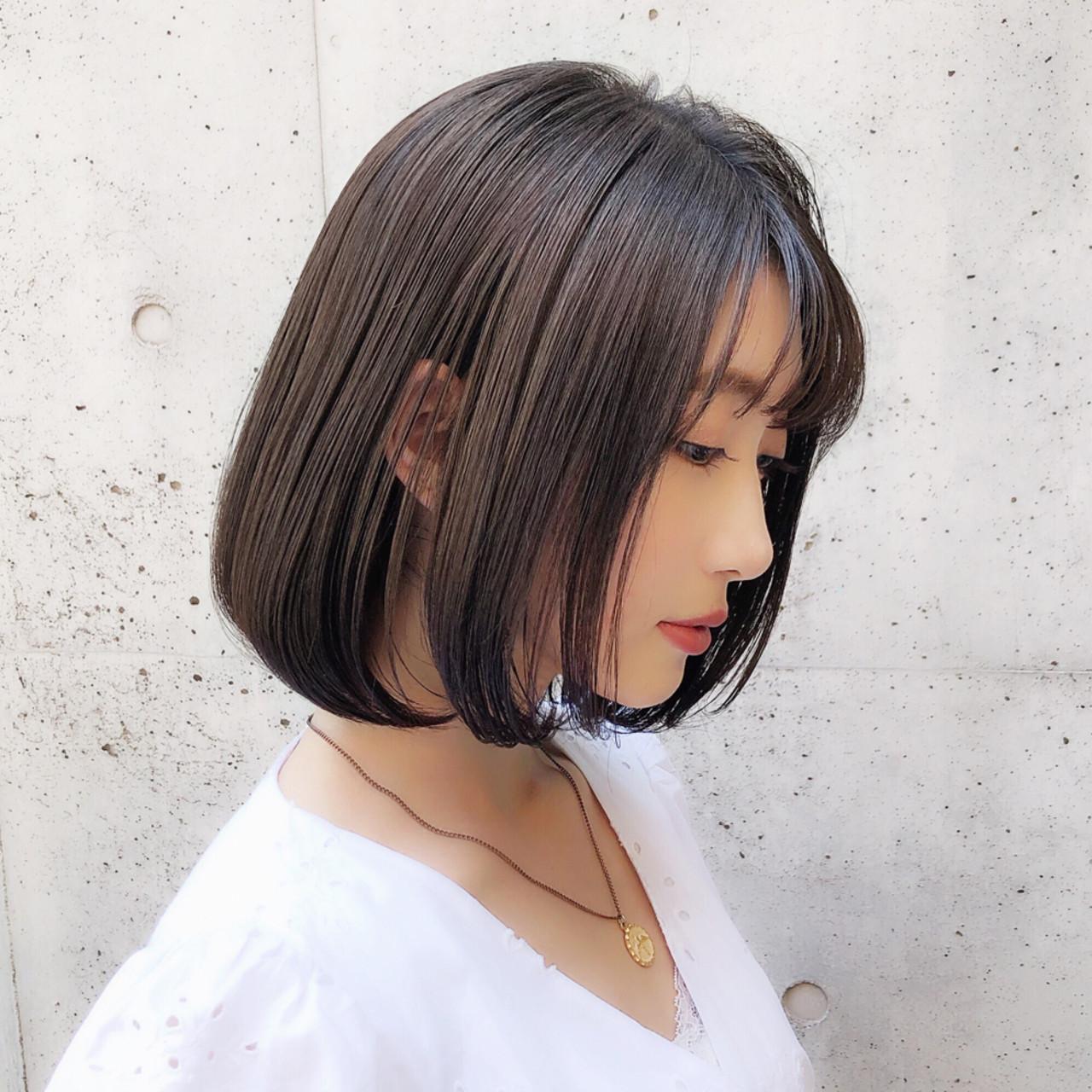 大人かわいい デート モテボブ ボブ ヘアスタイルや髪型の写真・画像   趙 英来 (よん) / nex