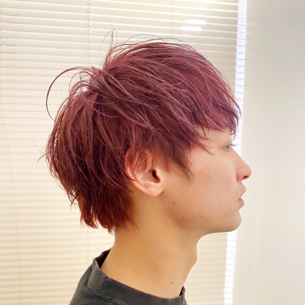 メンズカラー ボーイッシュ ショート メンズショートヘアスタイルや髪型の写真・画像