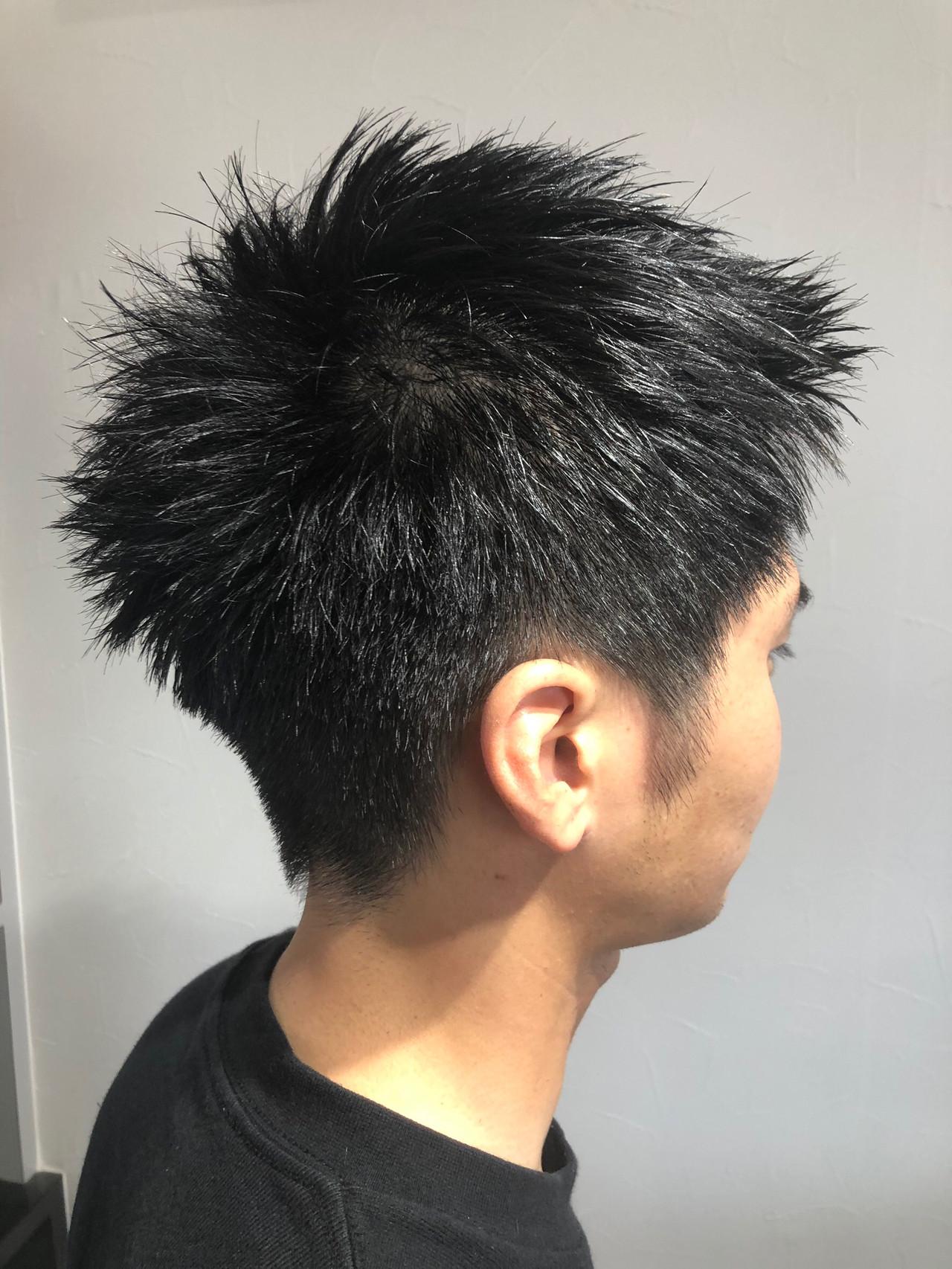 メンズ メンズカット ショート ストリートヘアスタイルや髪型の写真・画像