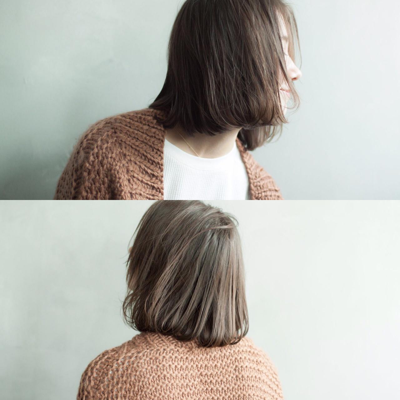 冬 色気 ボブ くせ毛風 ヘアスタイルや髪型の写真・画像 | 日野 達也 / GO TODAY  SHAiRE SALON