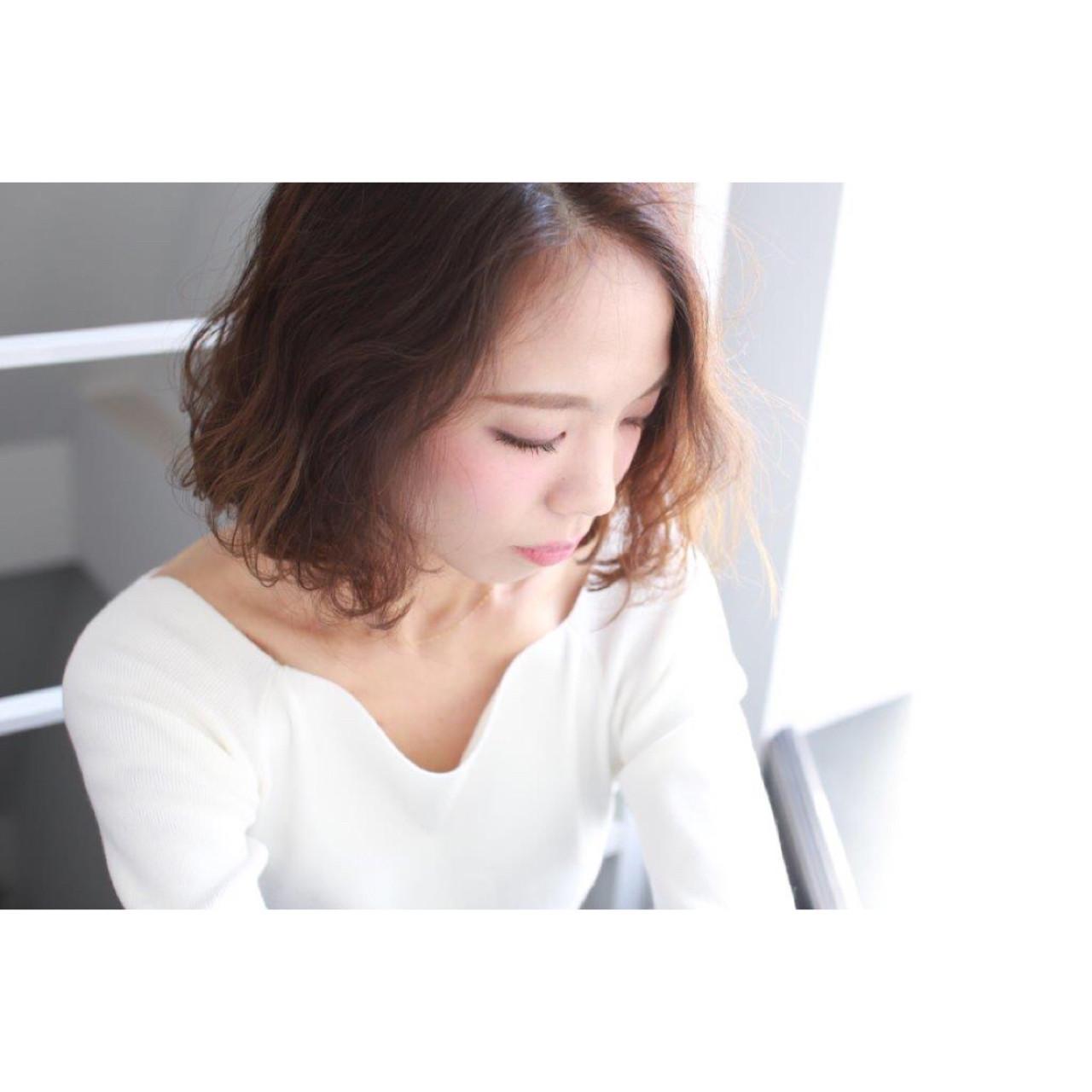 ナチュラル 大人かわいい グラデーションカラー ボブ ヘアスタイルや髪型の写真・画像 | Yumi Hiramatsu / Sourire Imaizumi【スーリール イマイズミ】