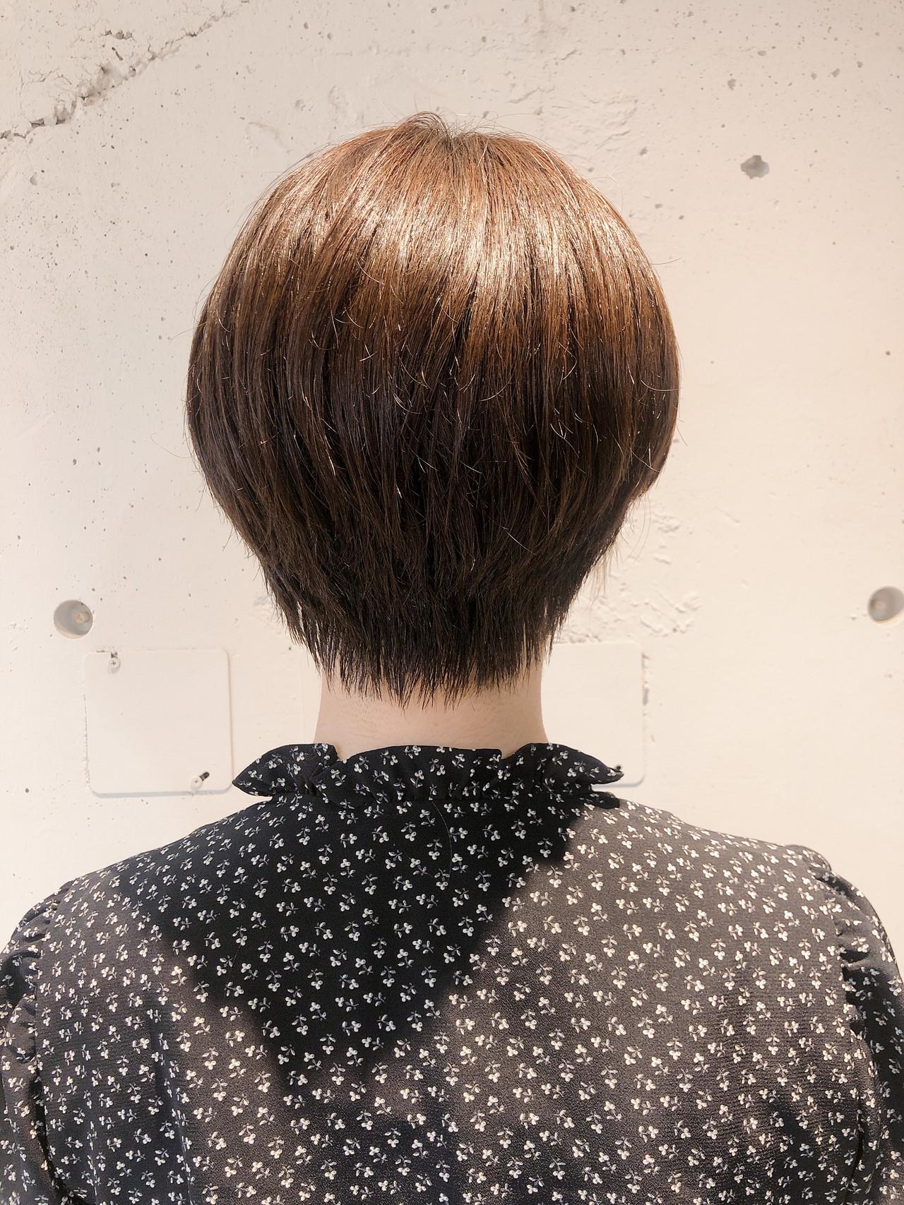 ストレート ショートボブ ショートヘア ショート ヘアスタイルや髪型の写真・画像 | 本田結(ほんだゆい)dydi表参道 / dydi表参道
