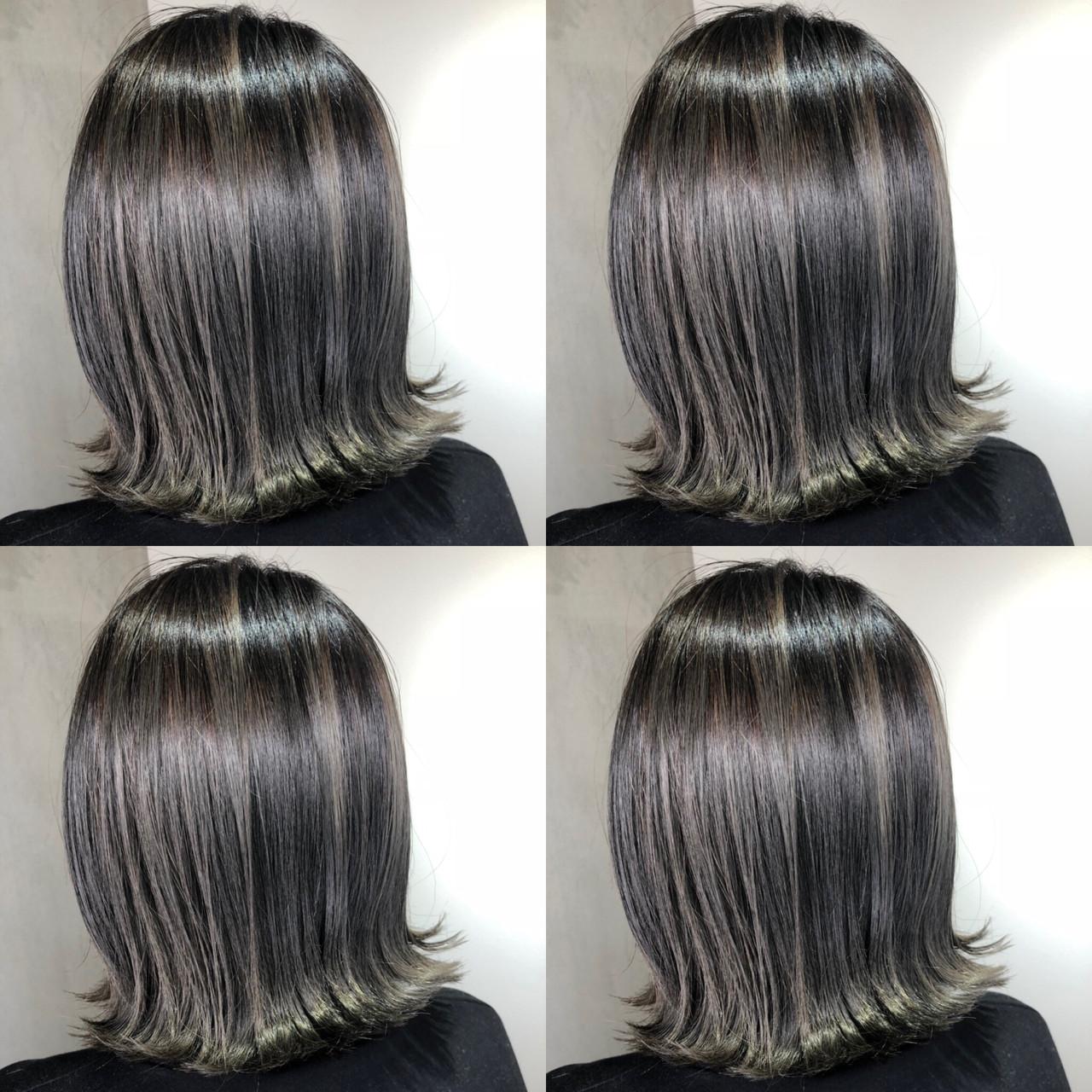 ストリート グレージュ 切りっぱなし グラデーションカラー ヘアスタイルや髪型の写真・画像 | 筒井 隆由 / Hair salon mode