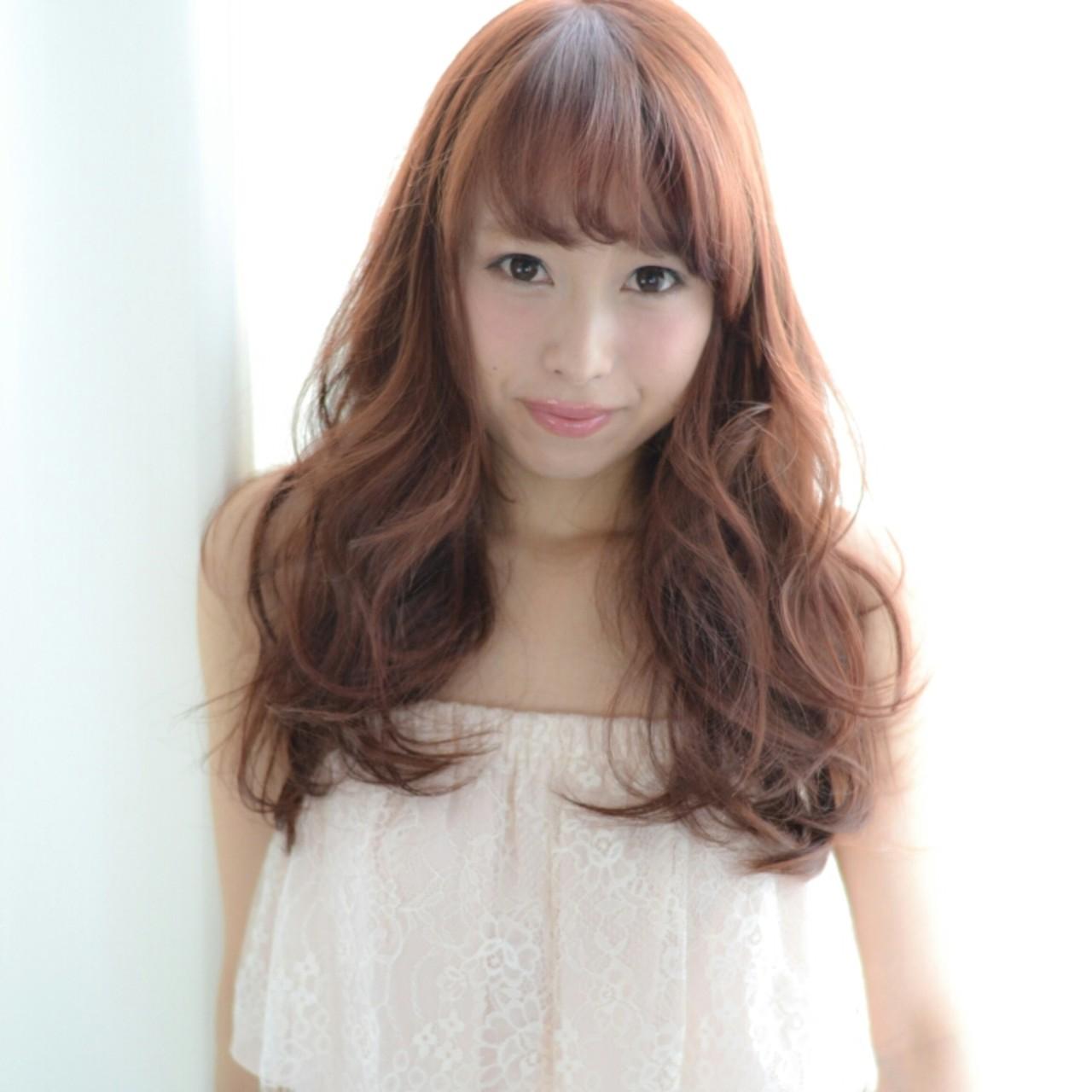 フェミニン パーマ ガーリー ロング ヘアスタイルや髪型の写真・画像 | Tsuru Shohei / ASIA(アジア)