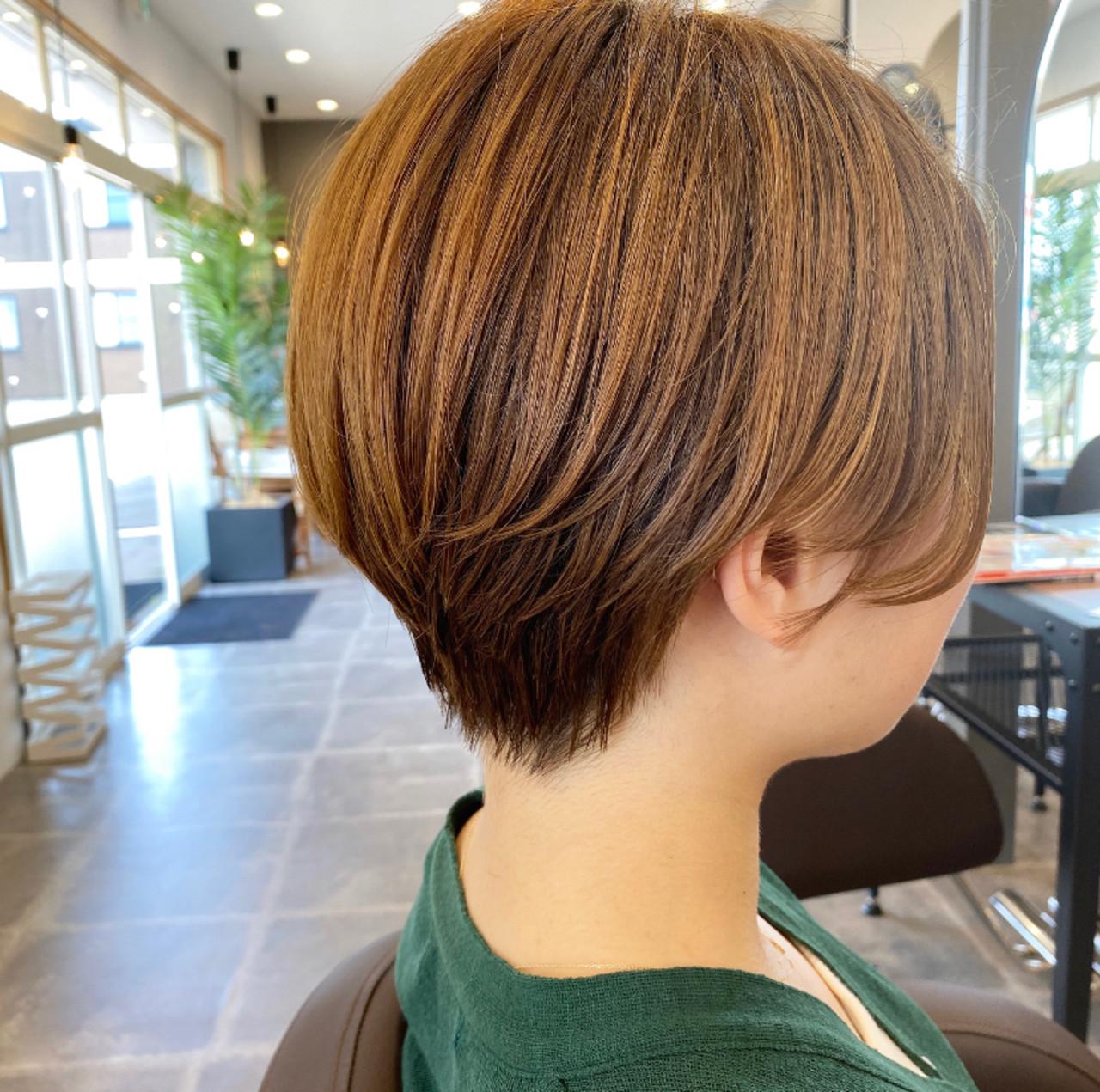 ミニボブ ショートヘア ベリーショート ショート ヘアスタイルや髪型の写真・画像   こーだい / AUBE hair lutella