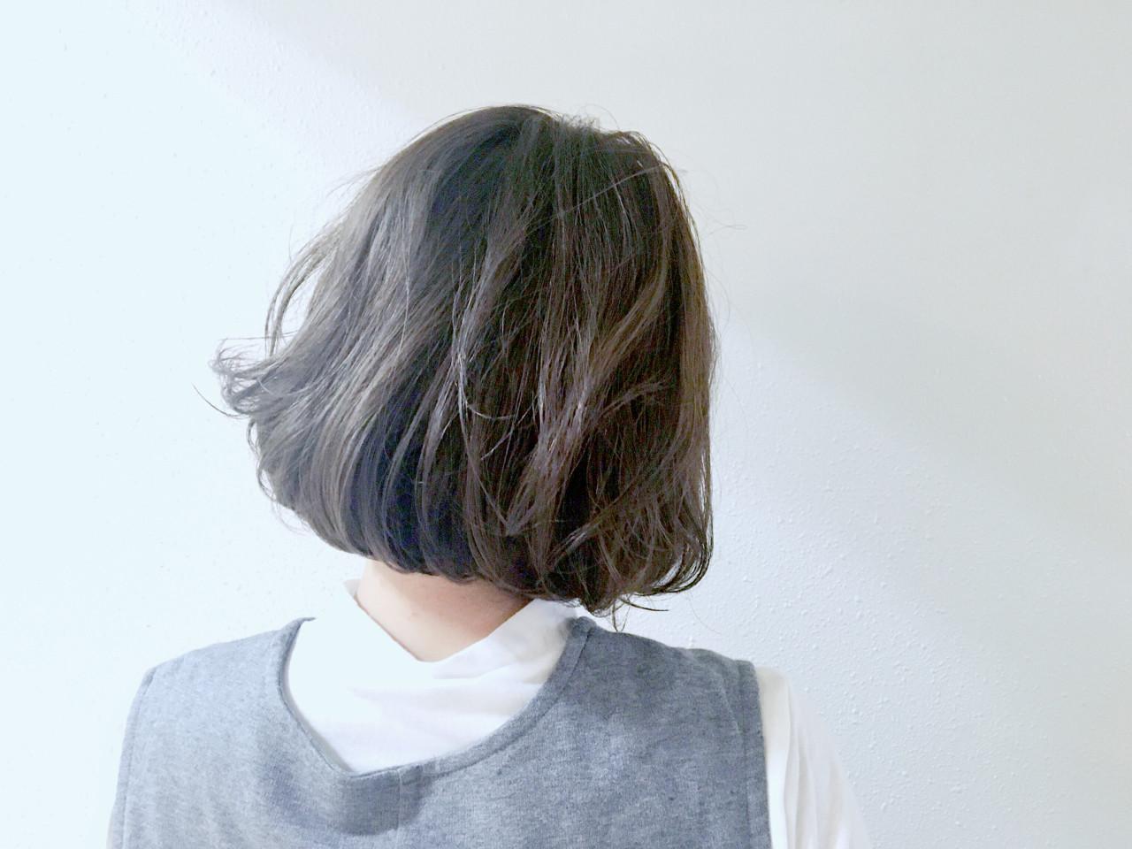 アッシュ 外国人風カラー ボブ 色気 ヘアスタイルや髪型の写真・画像 | 長 賢太郎 / ky-go