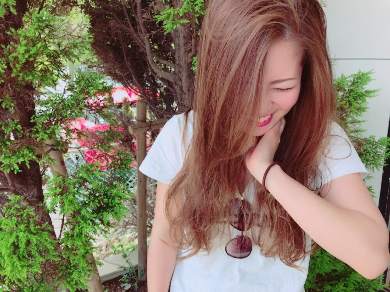 ロング ナチュラル カール ゆるふわ ヘアスタイルや髪型の写真・画像 | NASU IZUMI / SHAMPOO BOY 宮崎柳丸店