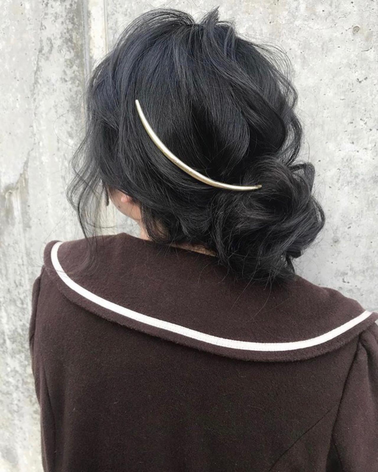 デート ロング ナチュラル ヘアアレンジヘアスタイルや髪型の写真・画像