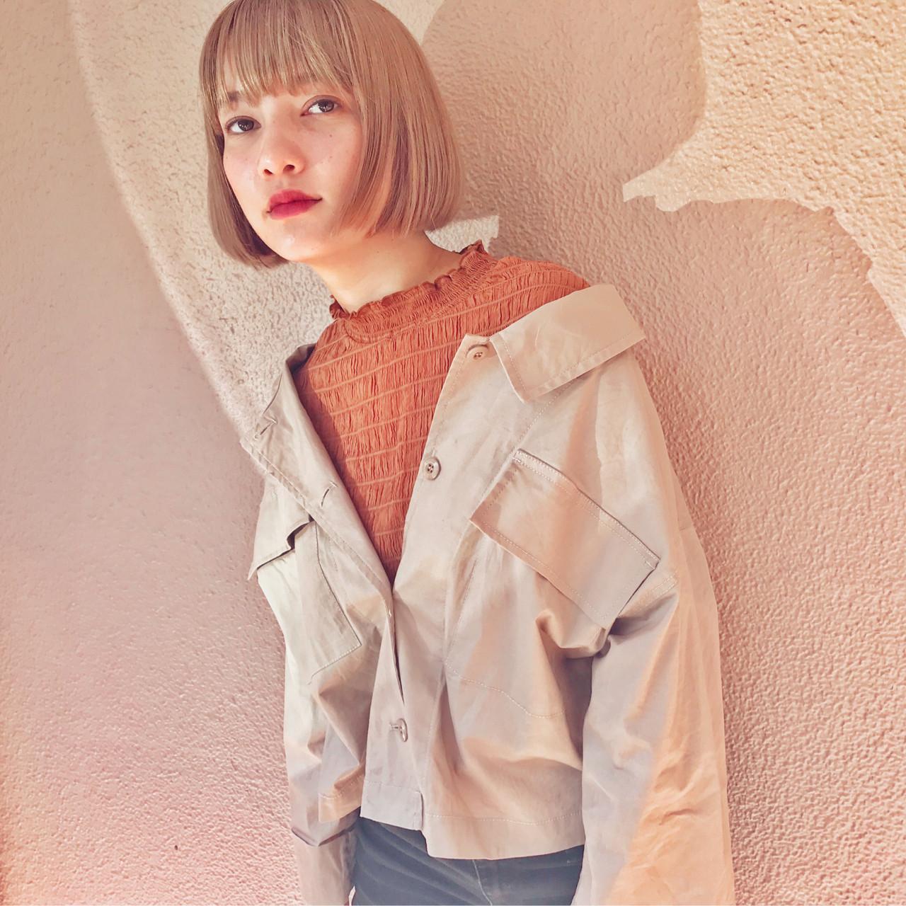 フェミニン ボブ アウトドア 女子力 ヘアスタイルや髪型の写真・画像   lora.garden 英太 /  lora.garden