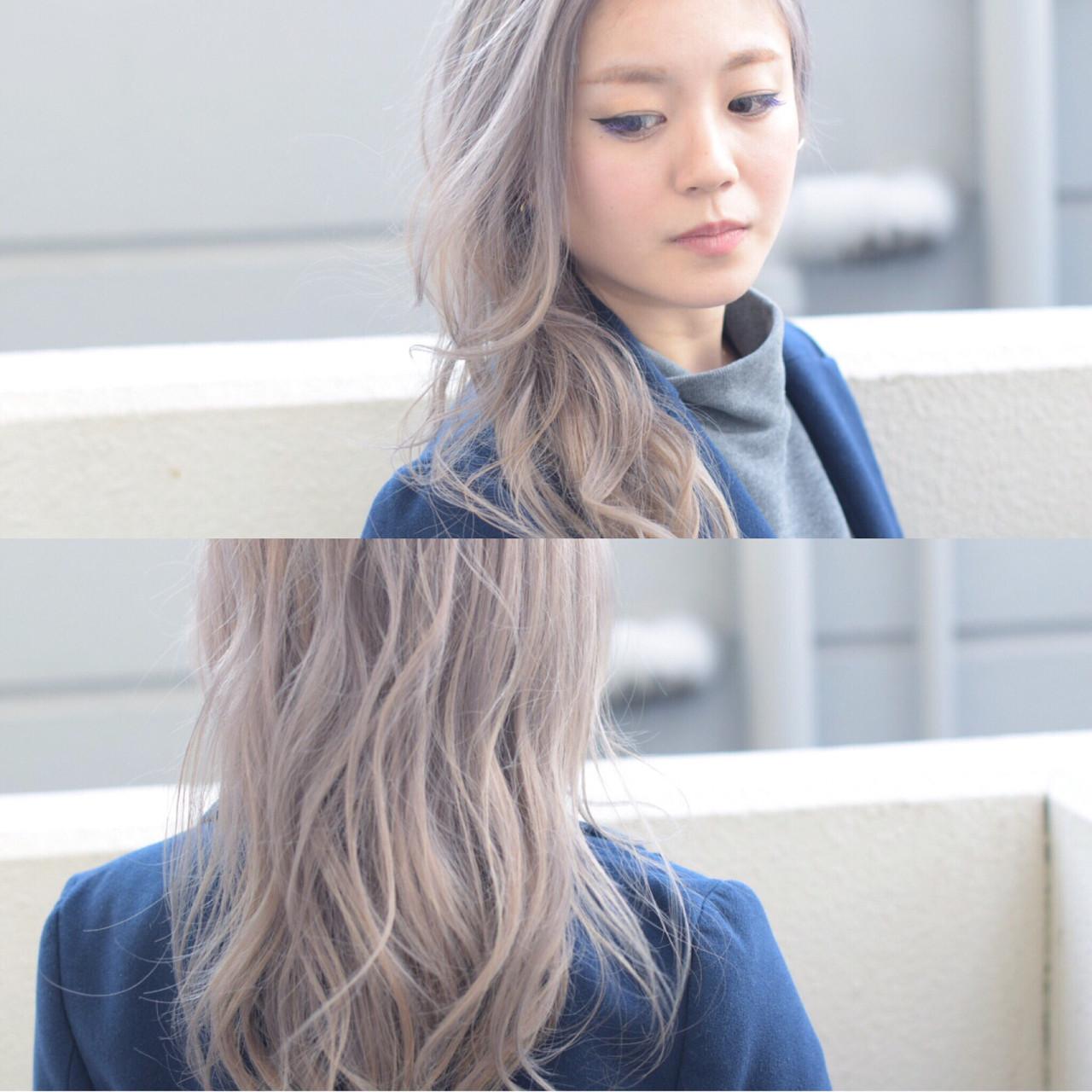 旬ヘアカラーなら外国人風「ホワイトアッシュ」♪ブリーチなしOKな髪色♡ 谷本 隆寛