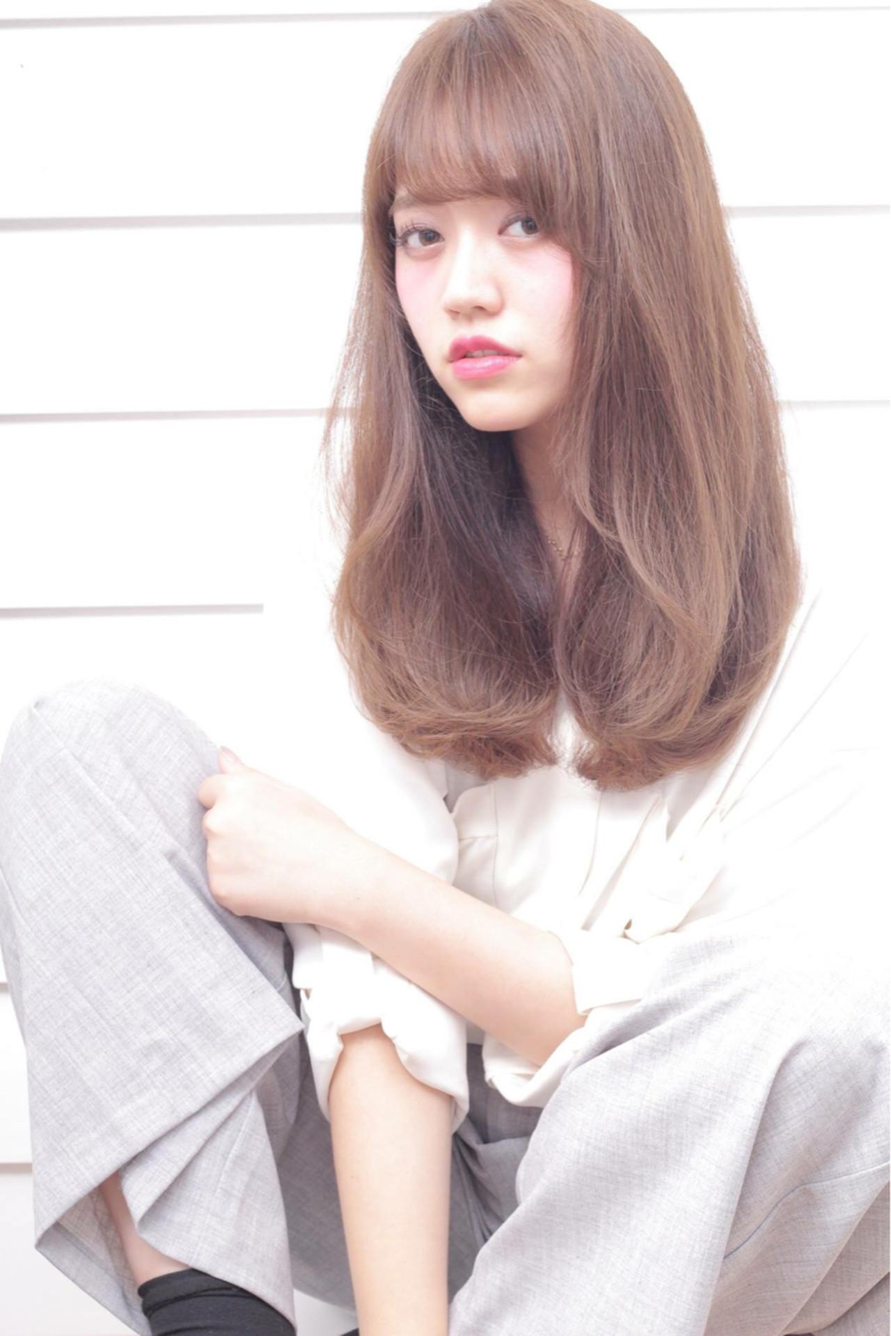 アッシュ 外国人風 前髪あり ミディアム ヘアスタイルや髪型の写真・画像   石田 学史 / DISHEL