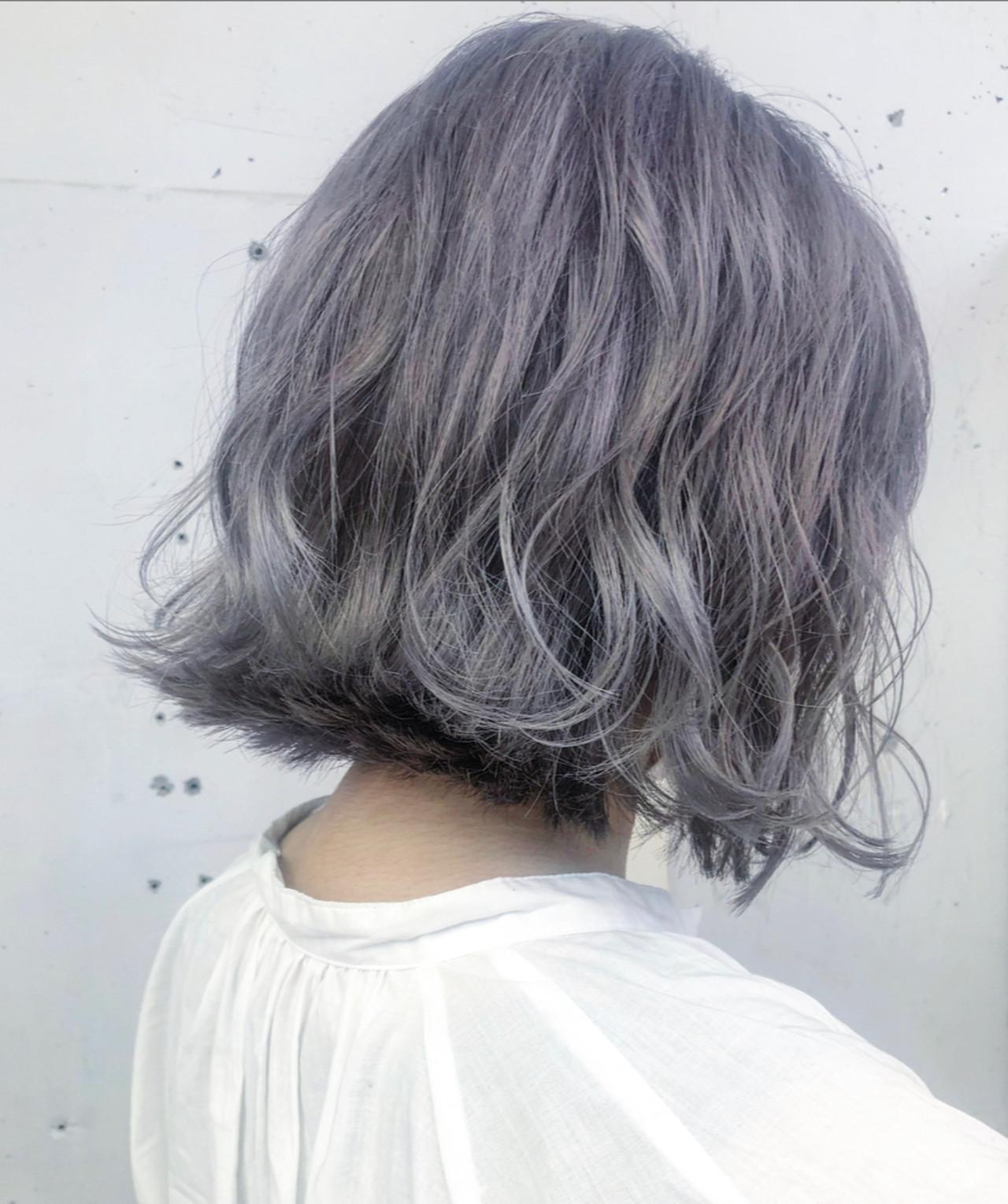 ブリーチカラー 透明感カラー ラベンダーグレー ブリーチ必須ヘアスタイルや髪型の写真・画像